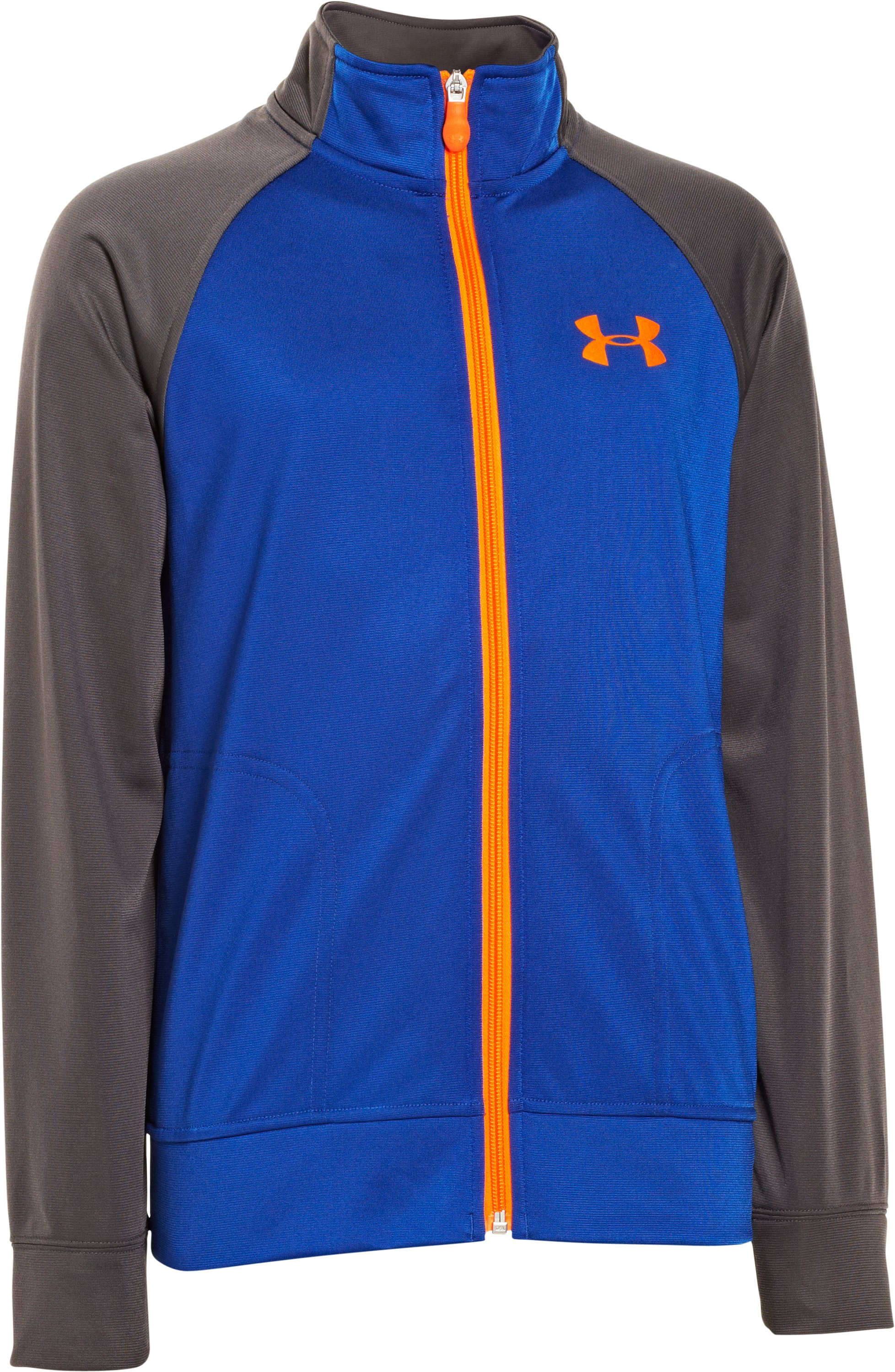 Boys' UA Brawler Knit Warm-Up Jacket 2.0, Royal