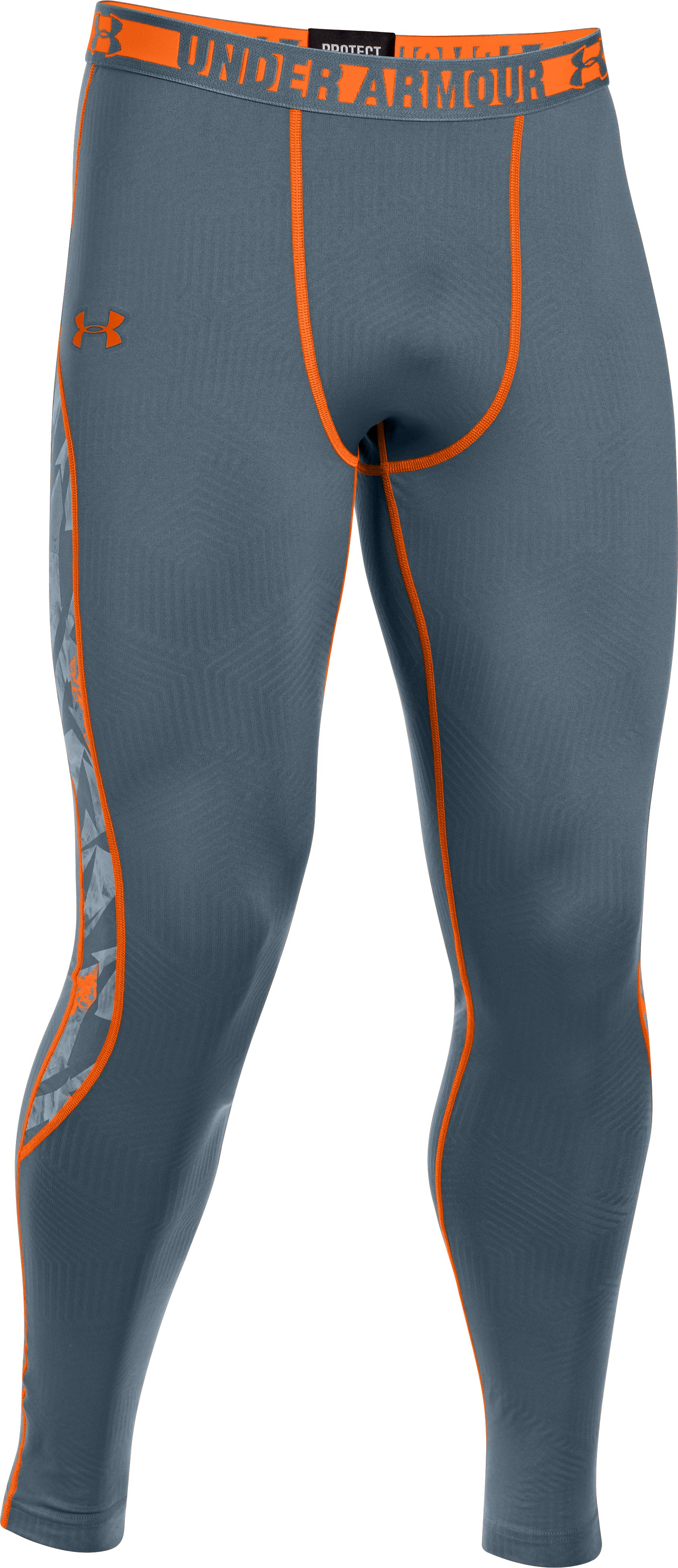 Men's ColdGear® Infrared Evo Fitted Leggings, BOLT GRAY