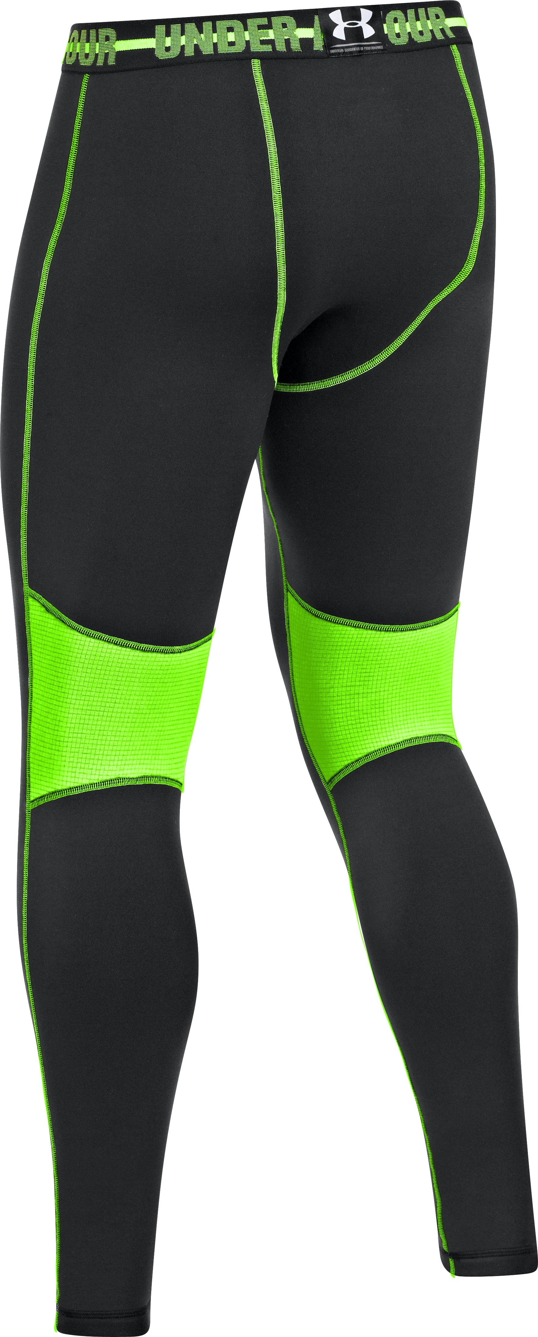Men's Armour® Stretch ColdGear® Leggings, Black ,