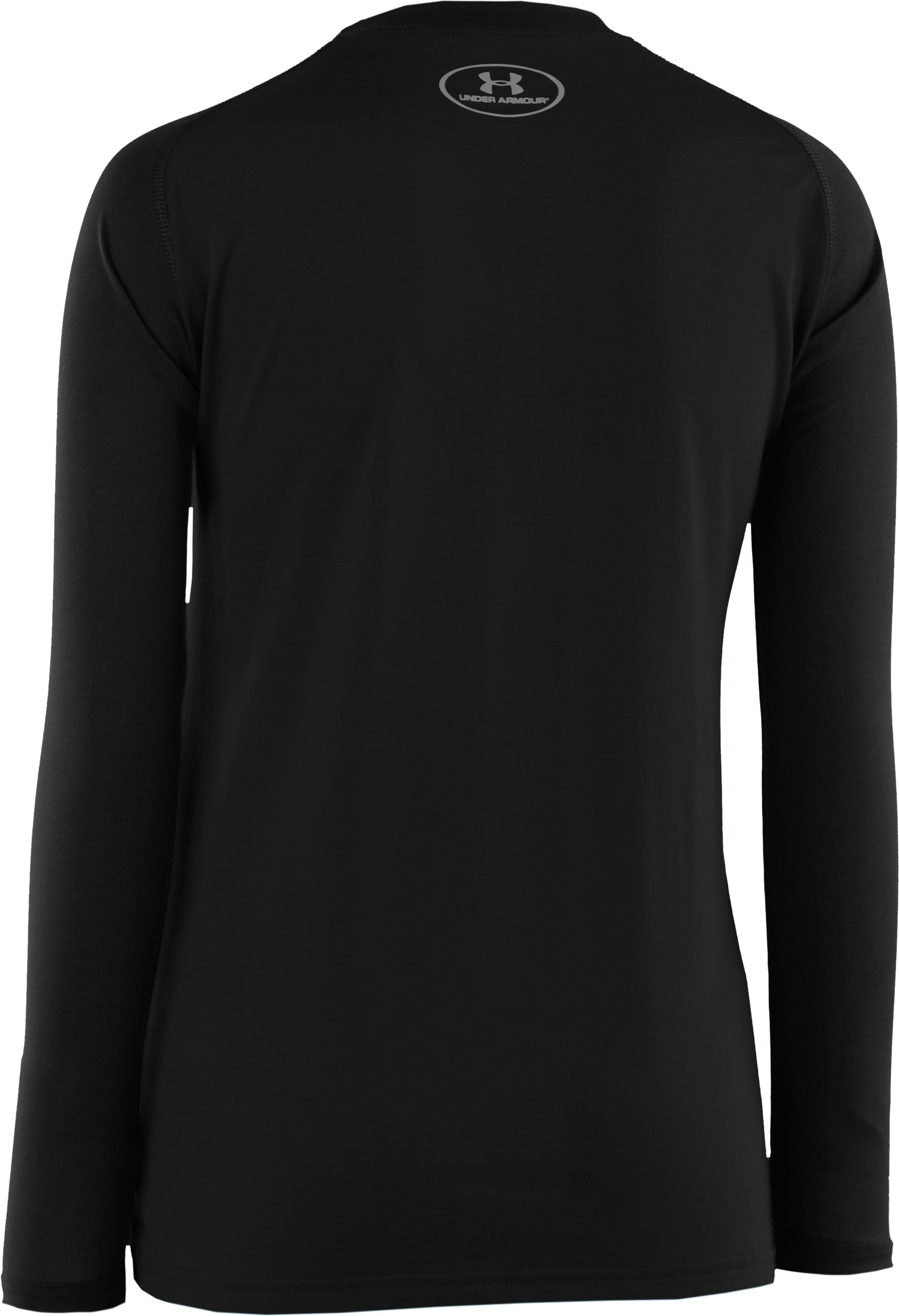 Boys' UA Tech™ Big Logo Long Sleeve T-Shirt, Black