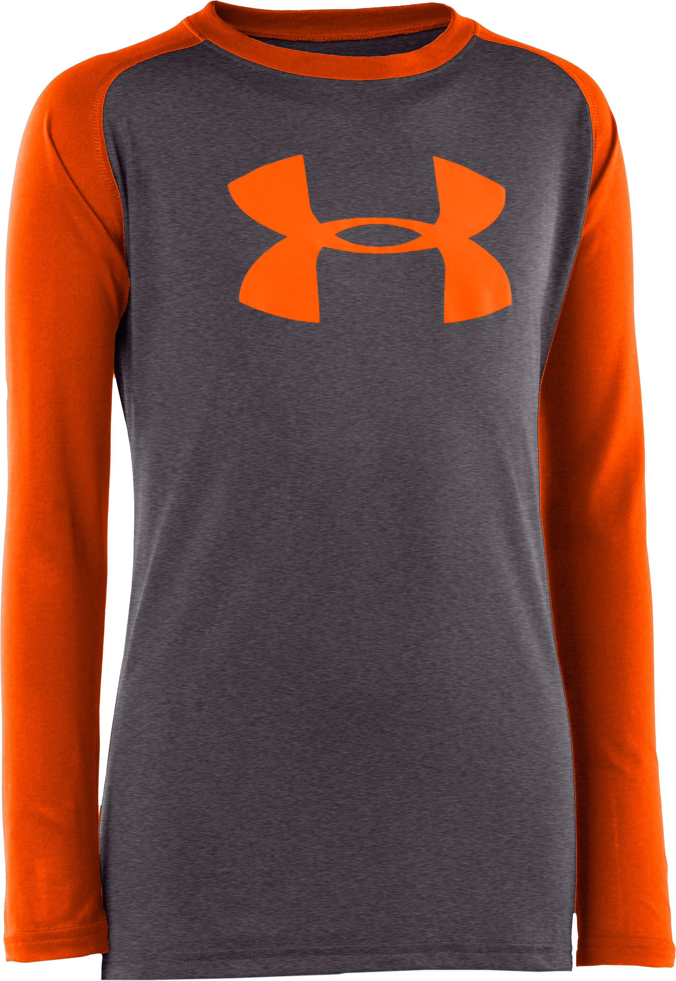 Boys' UA Tech™ Big Logo Long Sleeve T-Shirt, Carbon Heather