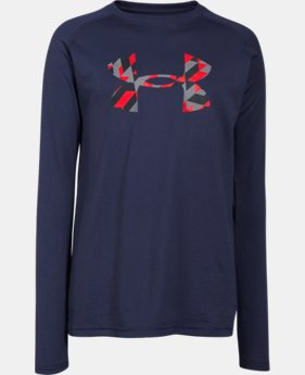 Boys' UA Tech™ Big Logo Long Sleeve T-Shirt  3 Colors $18.99