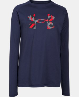 Boys' UA Tech™ Big Logo Long Sleeve T-Shirt  2 Colors $18.99