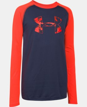 Boys' UA Tech™ Big Logo Long Sleeve T-Shirt LIMITED TIME: FREE U.S. SHIPPING 1 Color $18.99 to $24.99