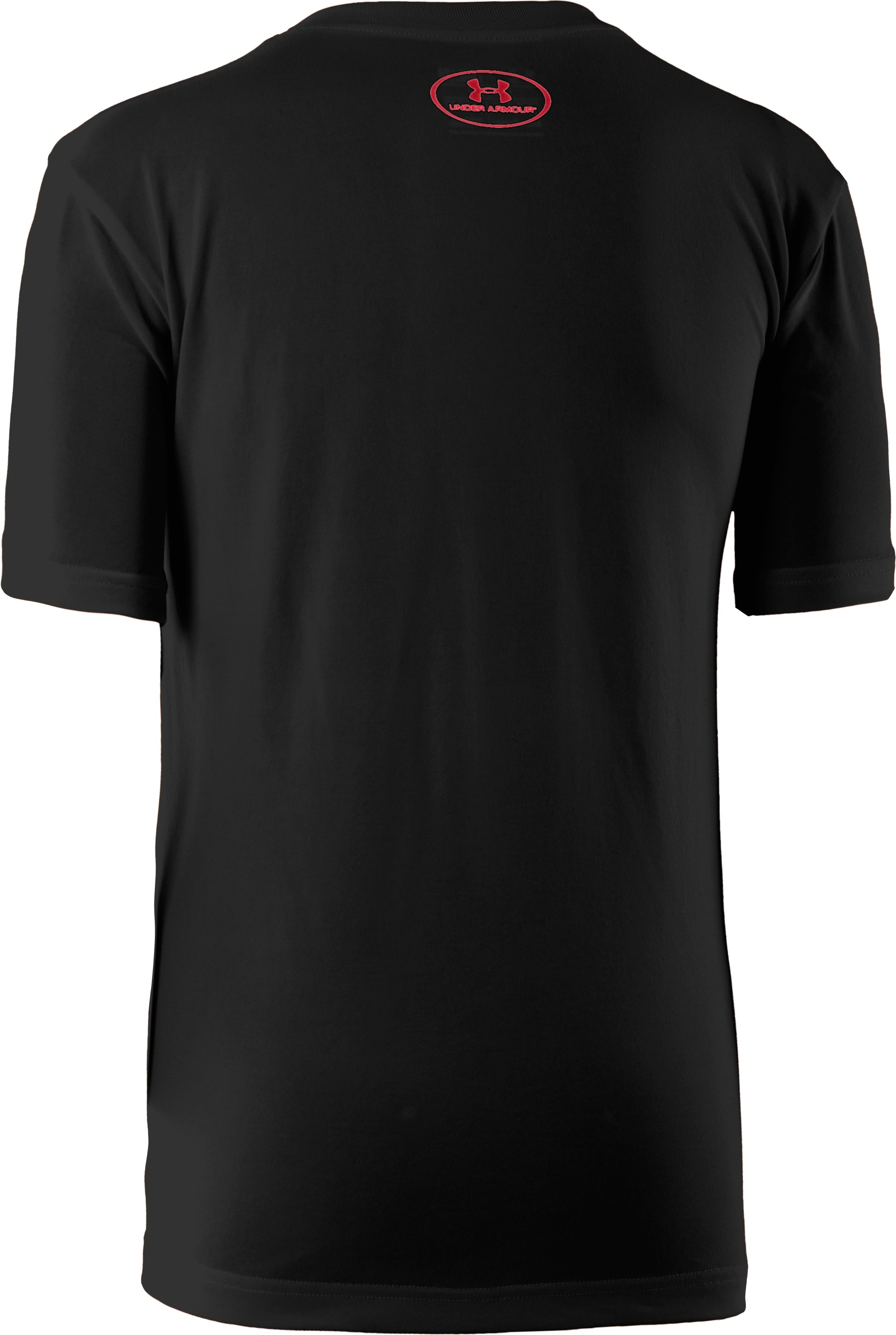 Boys' UA Space Brand Stack T-Shirt, Black