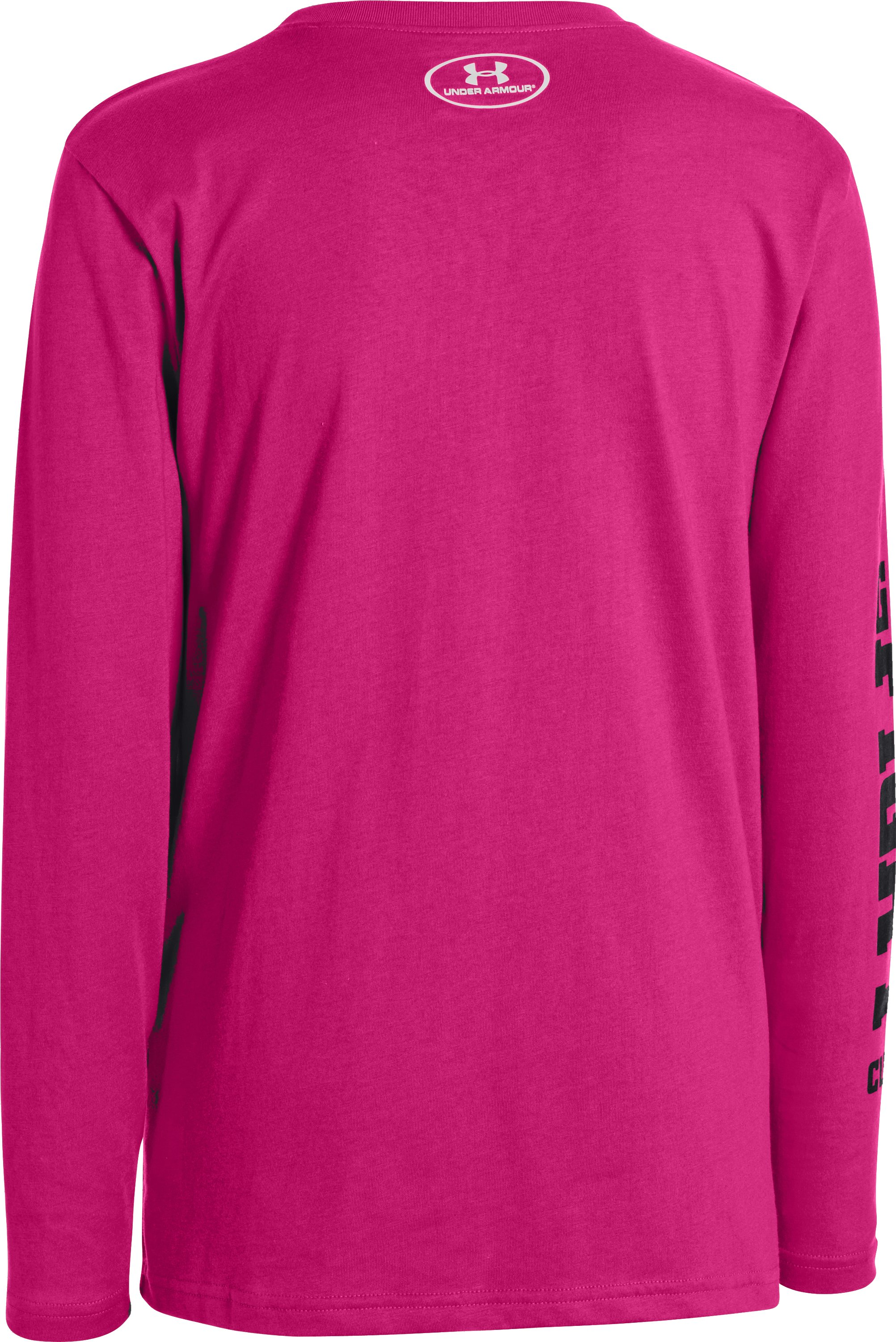 Boys' UA Go Fight Cure PIP® Long Sleeve T-Shirt, Tropic Pink