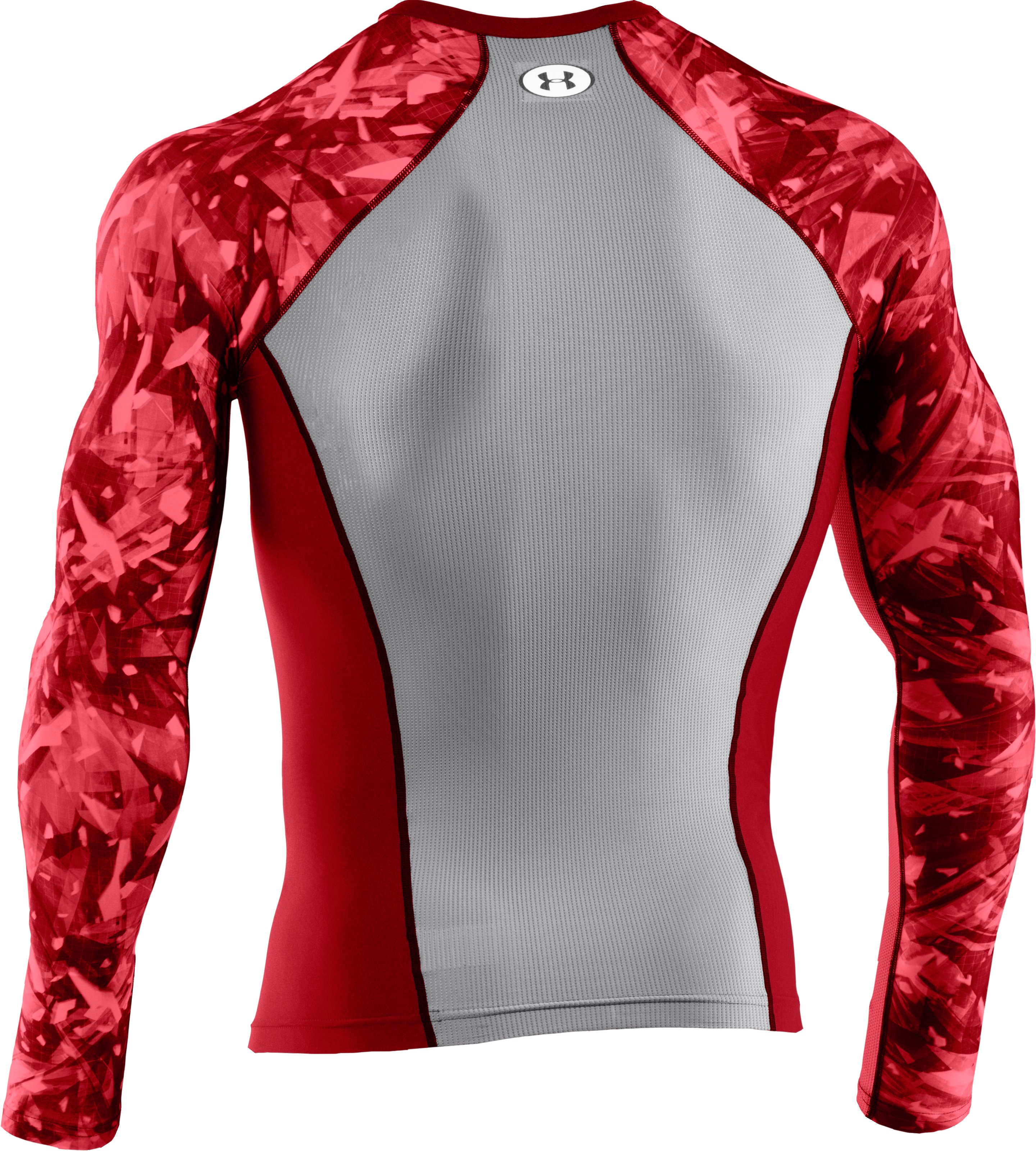 Men's NFL Combine Authentic Compression Long Sleeve, Red