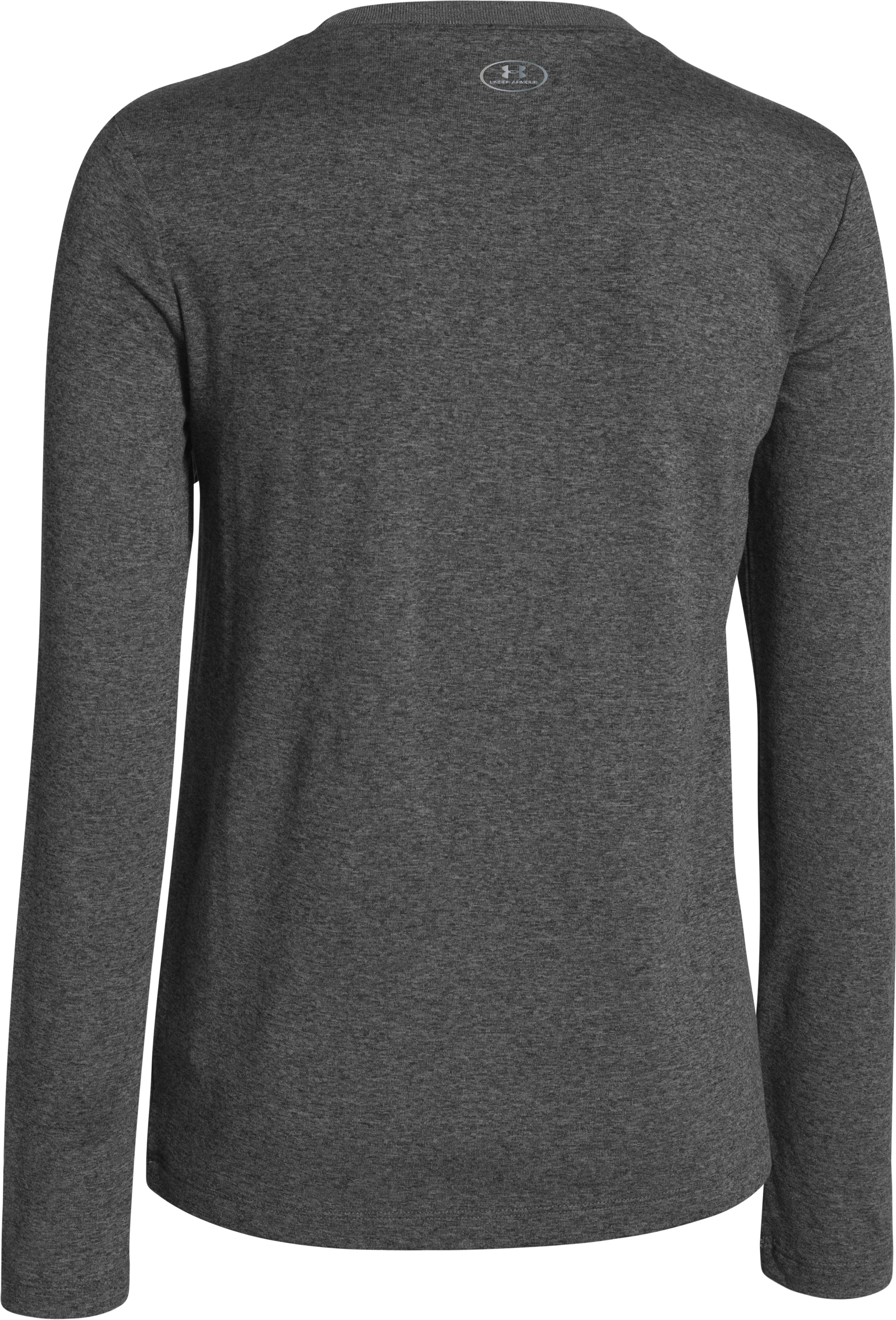 Girls' UA Tech™ Big Logo Long Sleeve, Carbon Heather