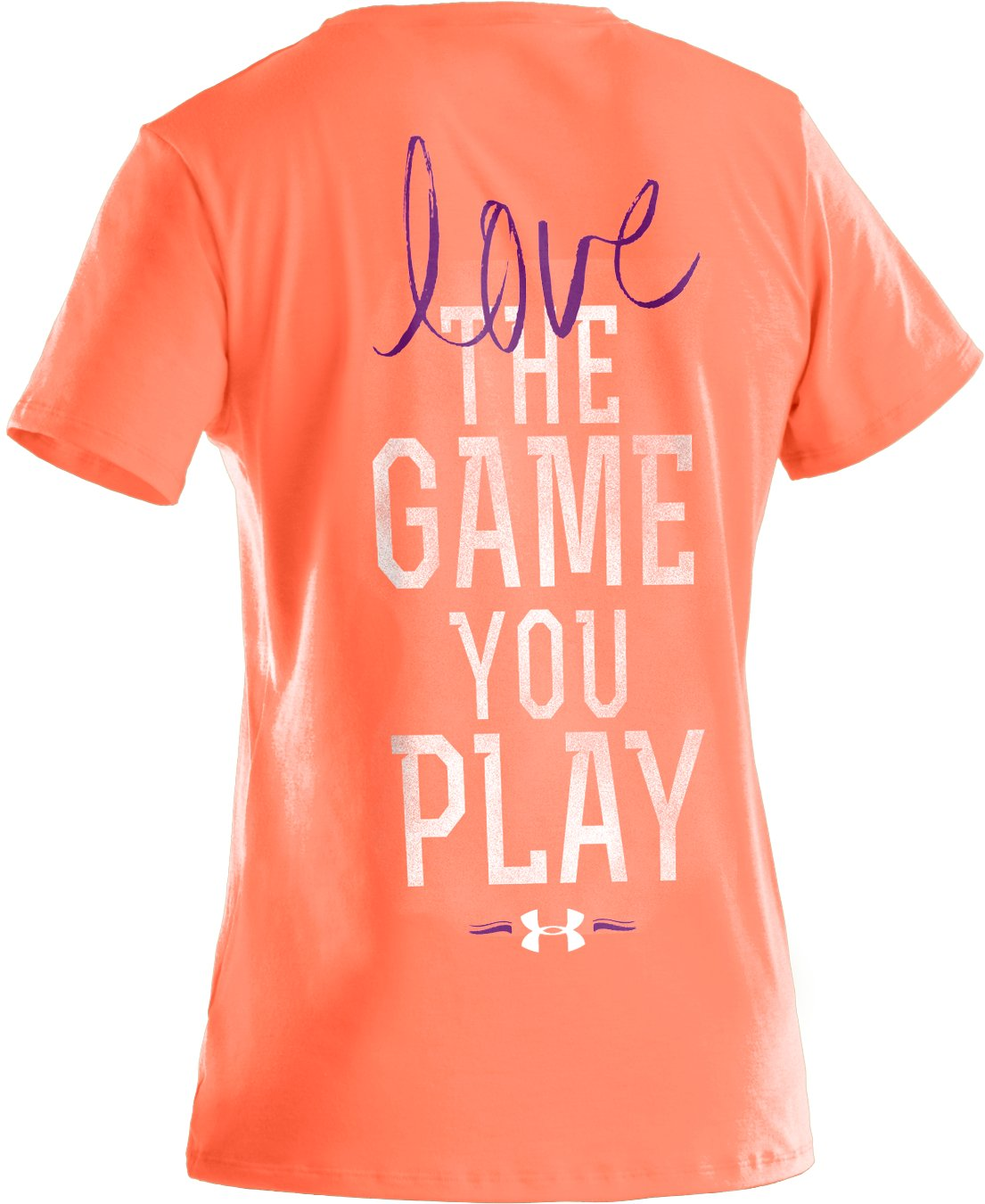 Girls' UA Play The Game Graphic T-Shirt, ELECTRIC TANGERINE