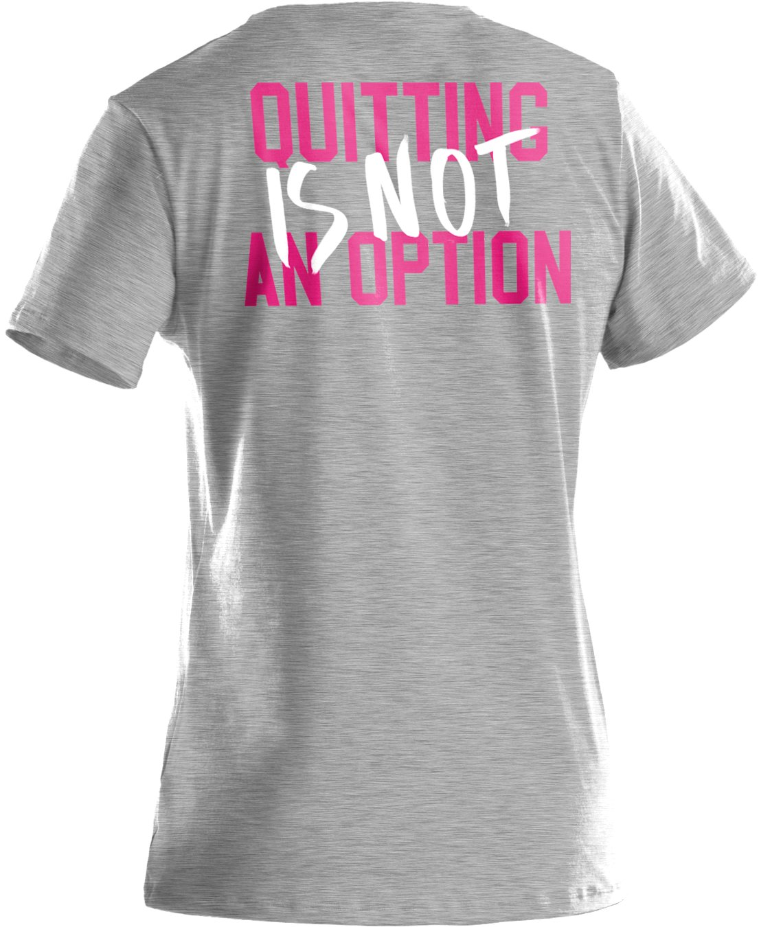Girls' UA PIP® Don't Quit Graphic T-Shirt, True Gray Heather, undefined