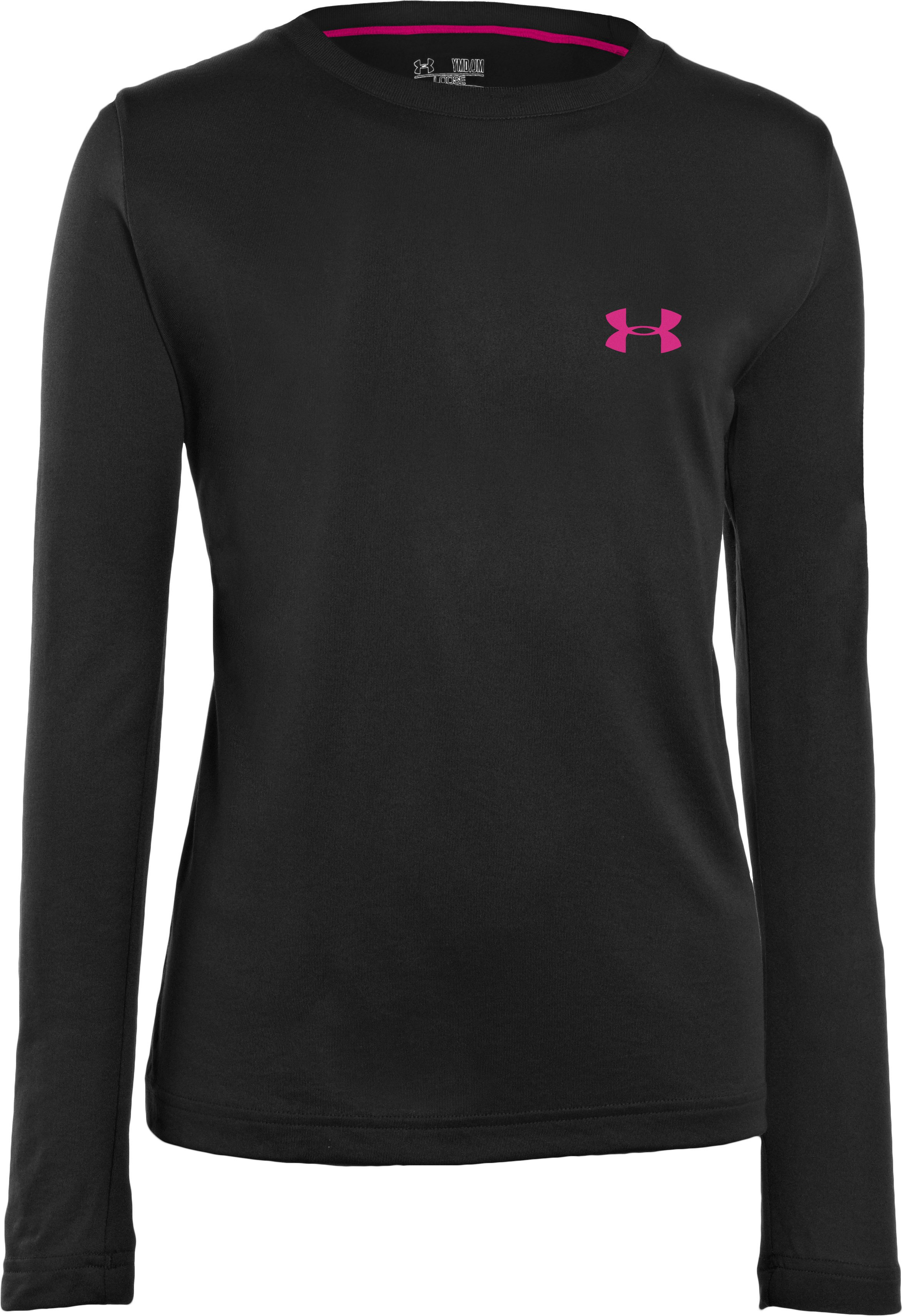 Girls' UA PIP® Gradient Ribbon Graphic Longsleeve, Black