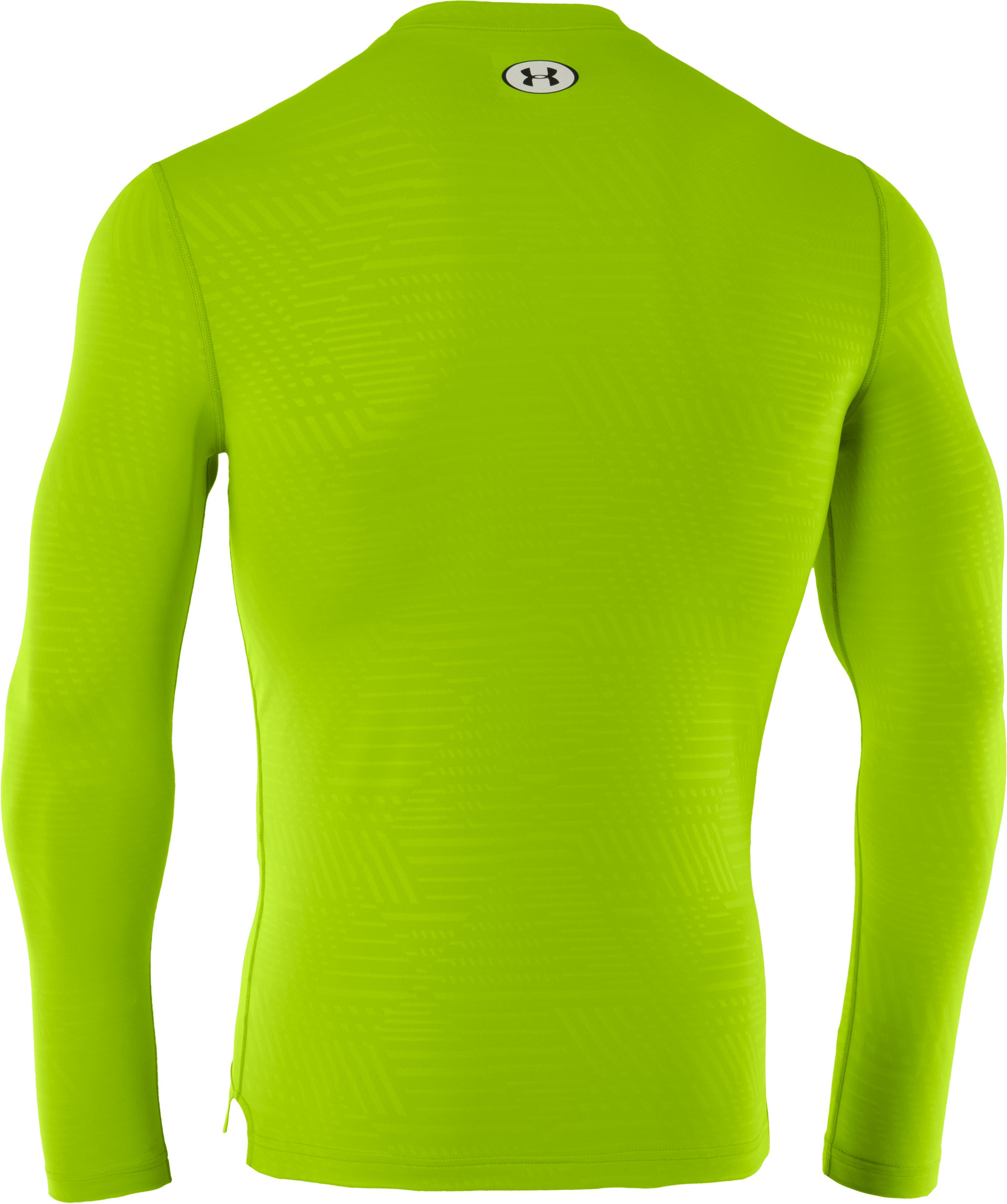 Men's ColdGear® Infrared Evo Printed Fitted Crew, HYPER GREEN