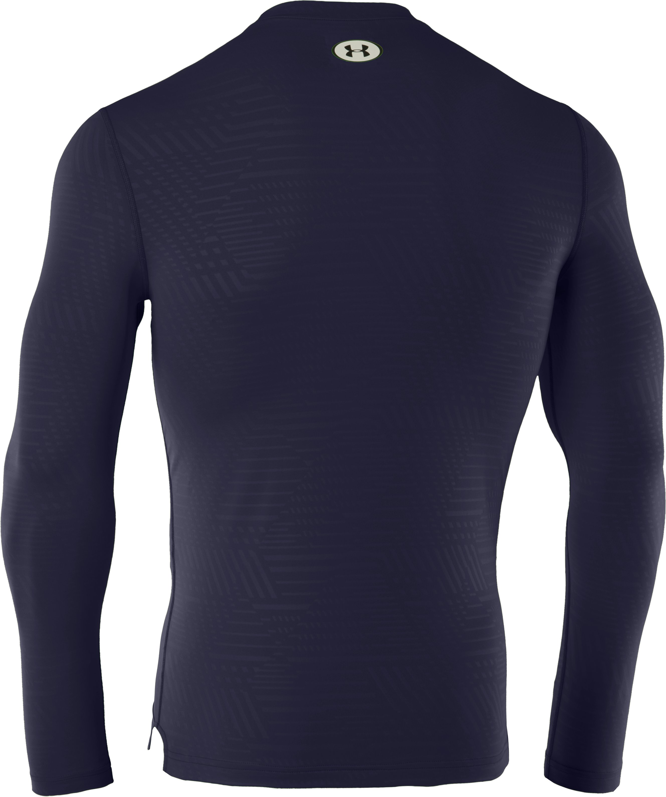 Men's ColdGear® Infrared Evo Printed Fitted Crew, Midnight Navy