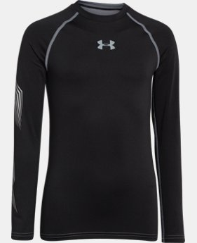 Boys'' UA Hockey Grippy Fitted Shirt  1 Color $37.99