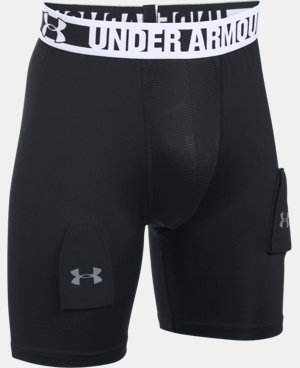 Boys' UA Hockey Grippy Fitted Shorts w/ Cup  1 Color $37.99