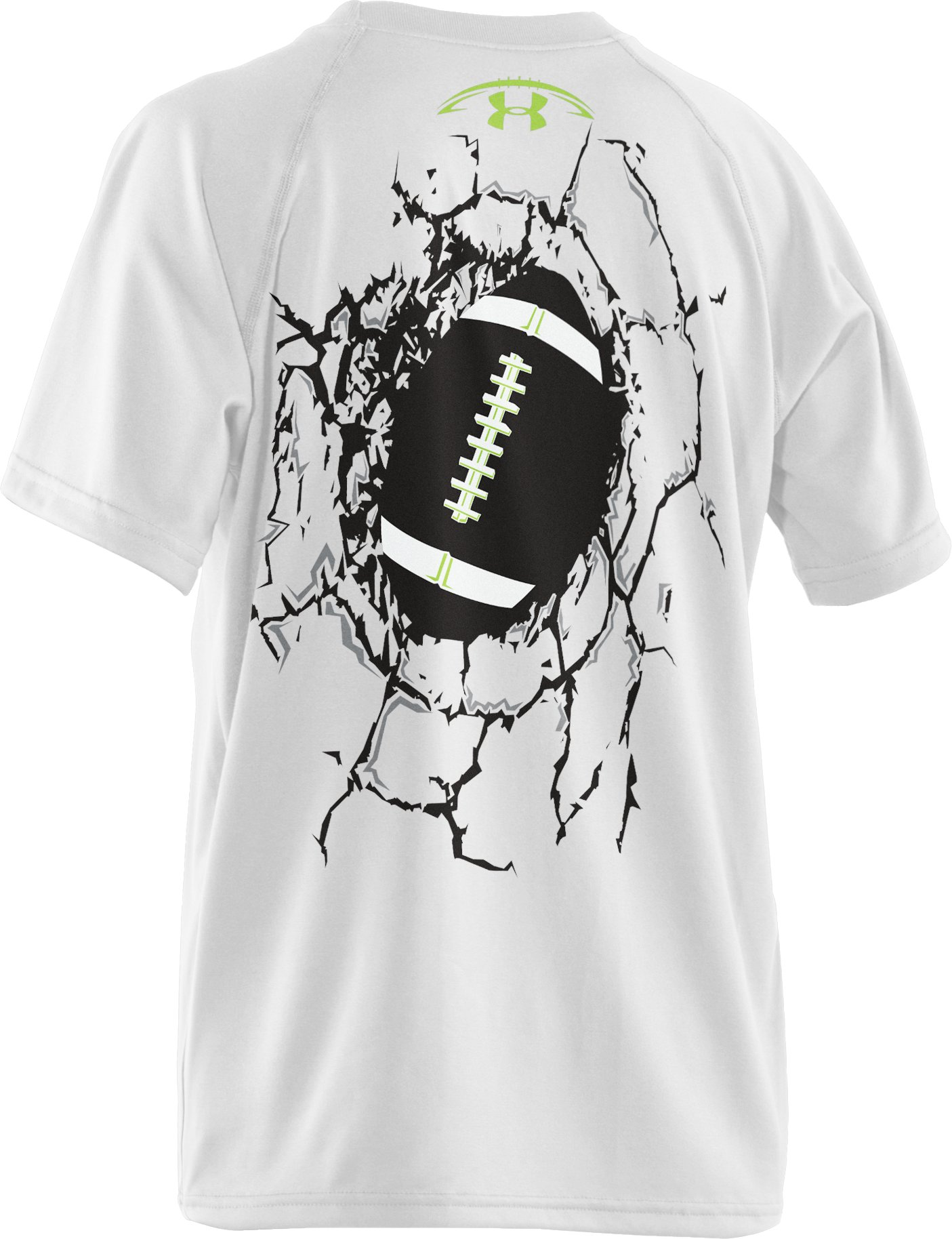 Boys' UA Break Thru T-Shirt, White