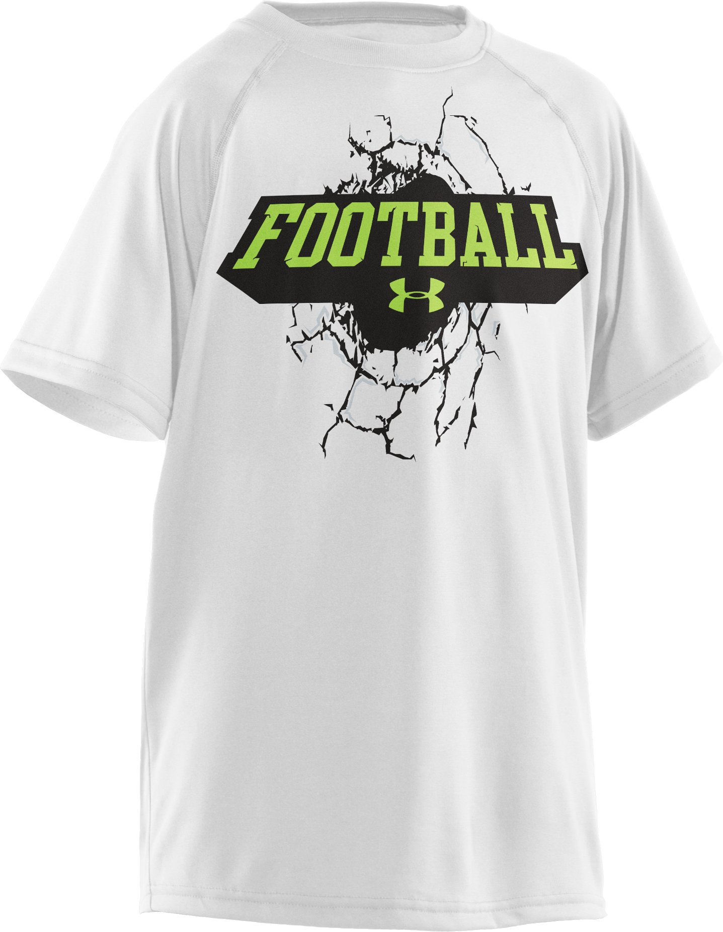 Boys' UA Break Thru T-Shirt, White, zoomed image