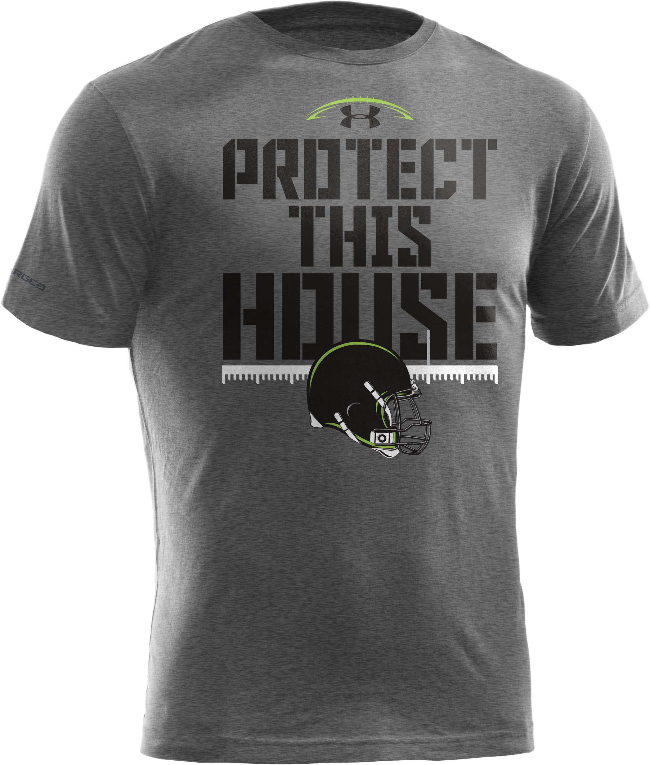 Boys' UA Protect This House® T-Shirt, True Gray Heather, zoomed image
