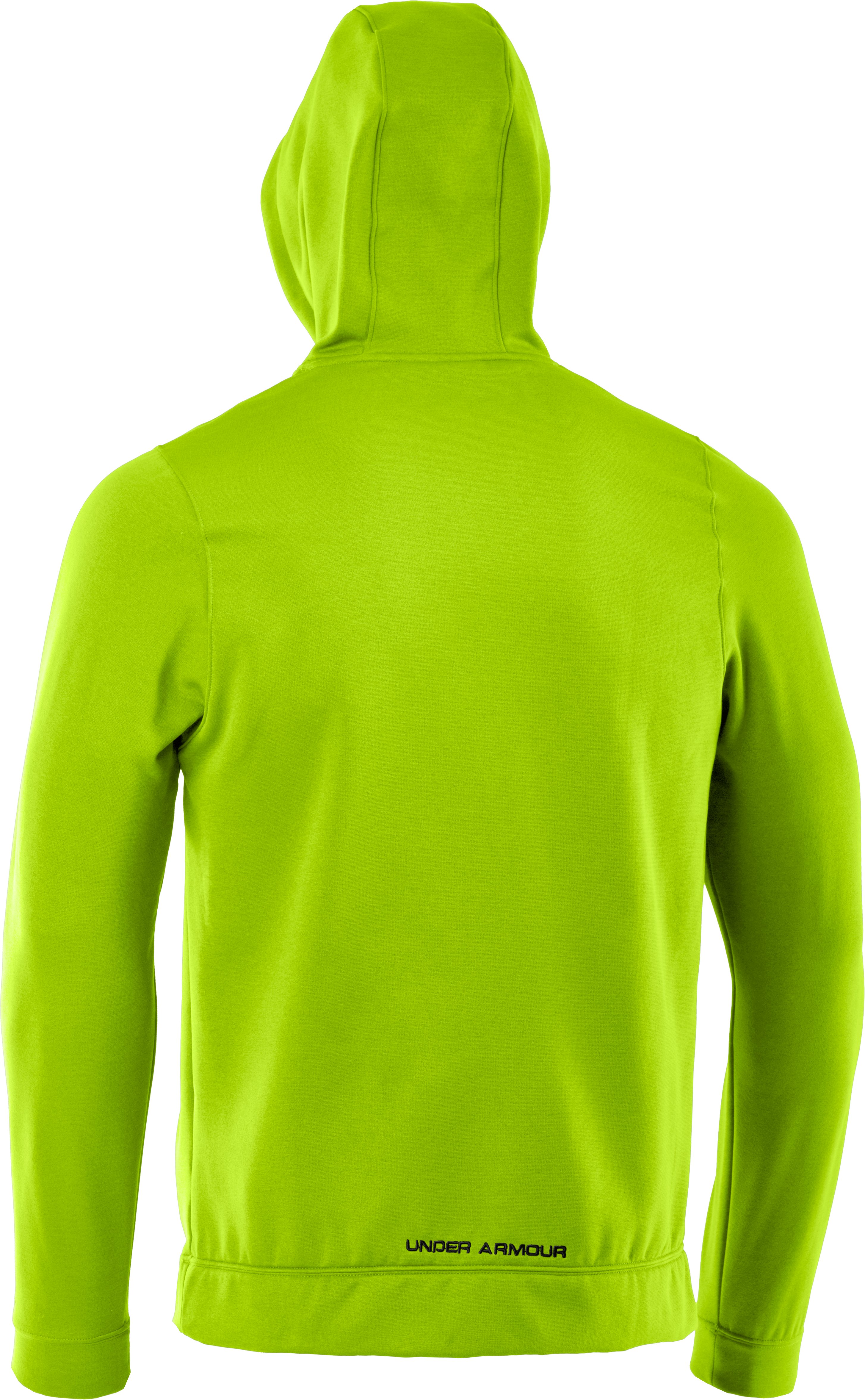 Men's UA Storm Armour® Fleece Pattern Big Logo Hoodie, HYPER GREEN