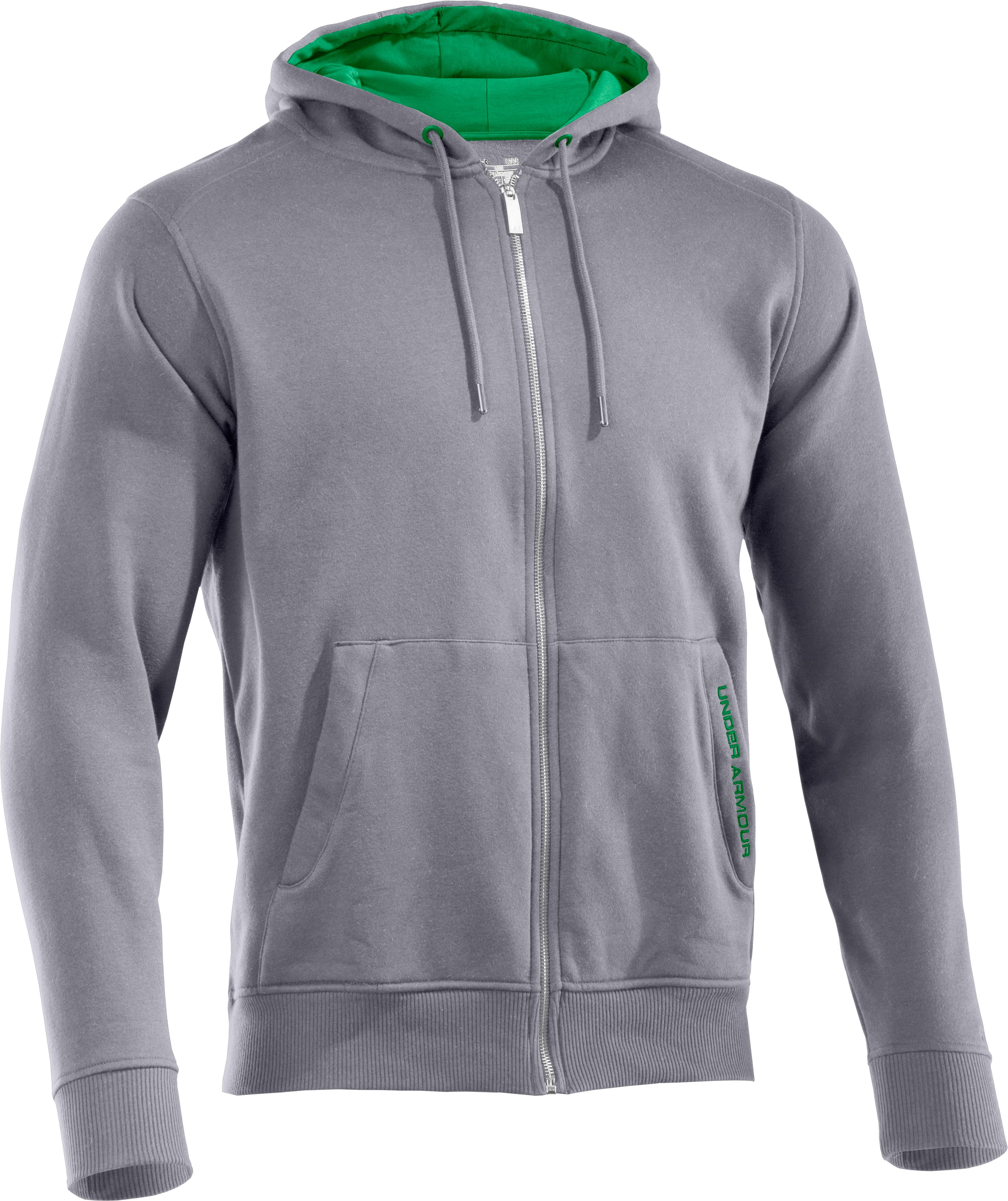 Men's Charged Cotton® Storm Full Zip Hoodie, Aluminum, undefined