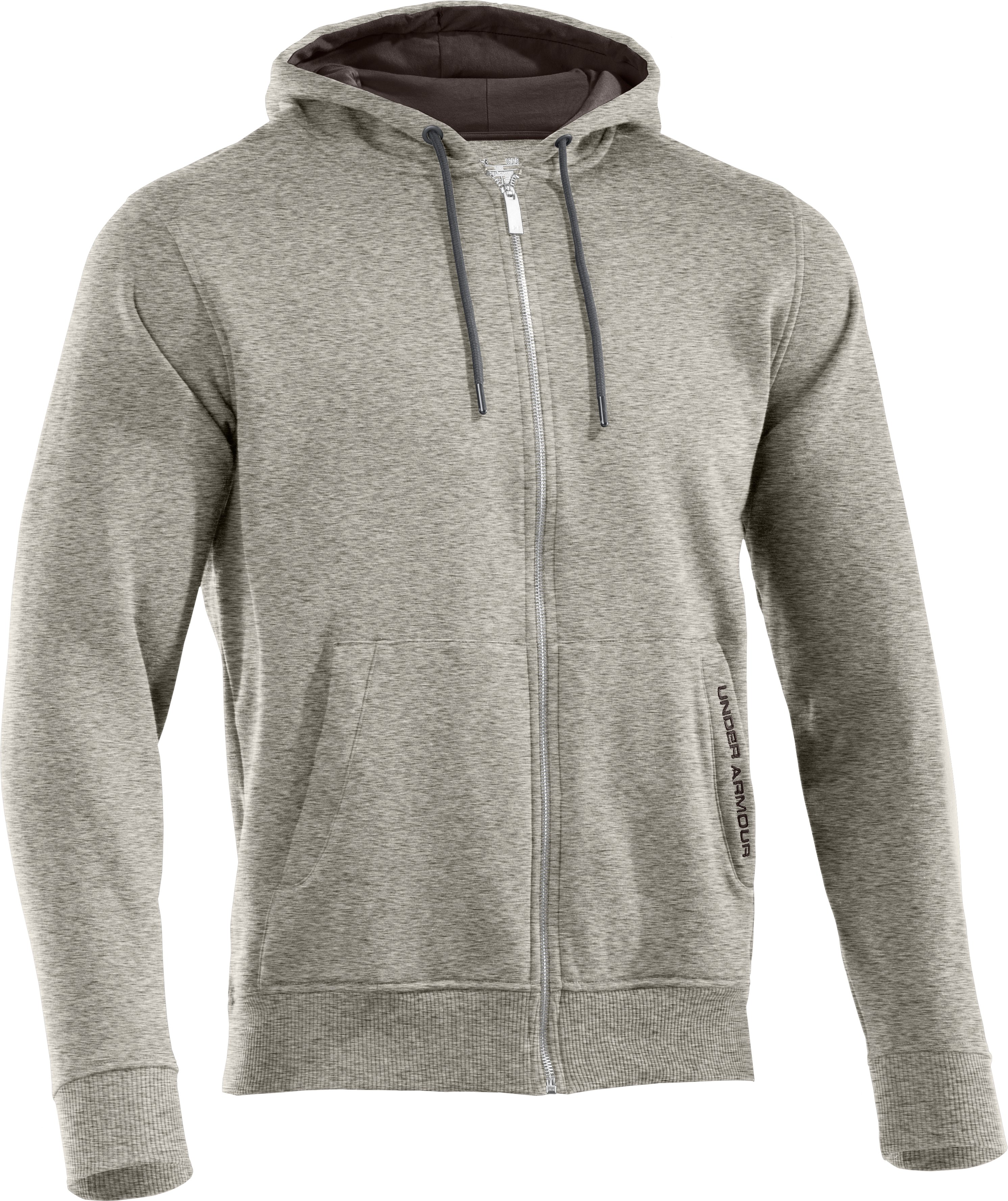 Men's Charged Cotton® Storm Full Zip Hoodie, Oatmeal Heather