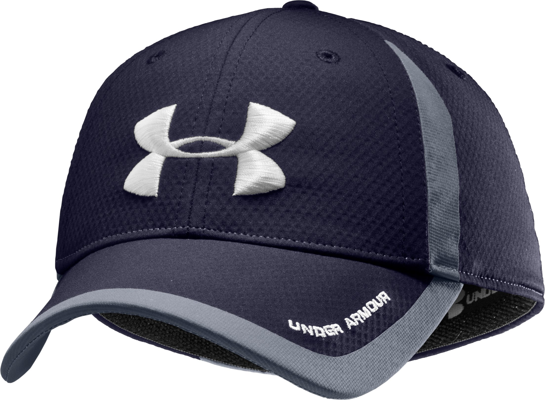 Men's UA Touchback Stretch Fit Cap, Midnight Navy