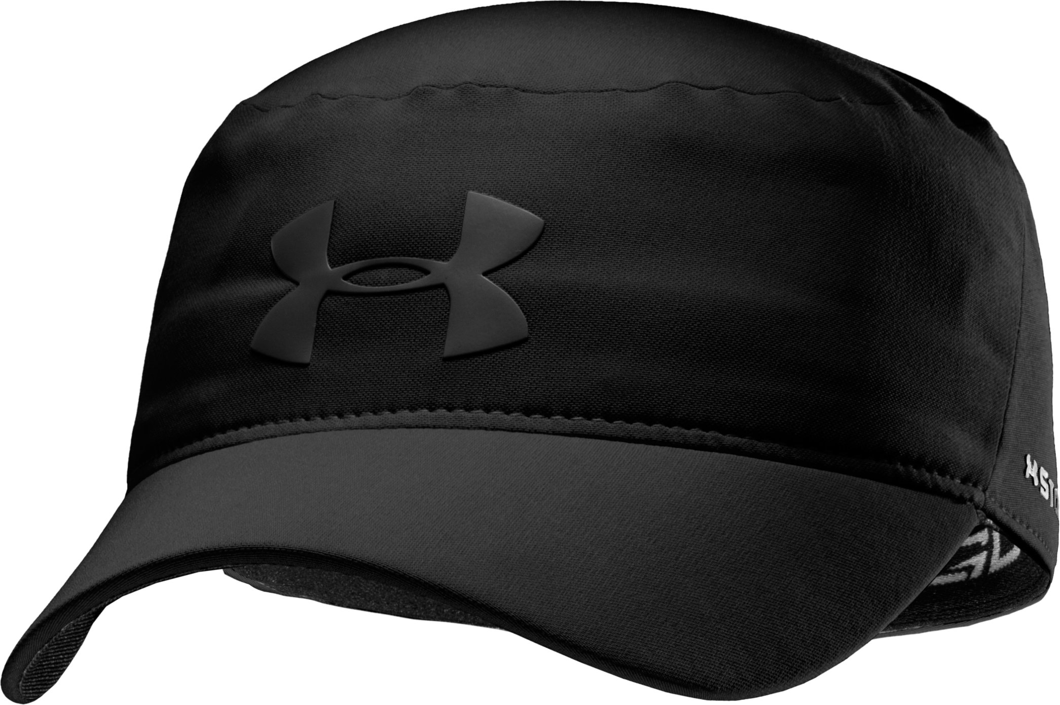 Men's UA Storm Military Stretch Fit Cap, Black , zoomed image