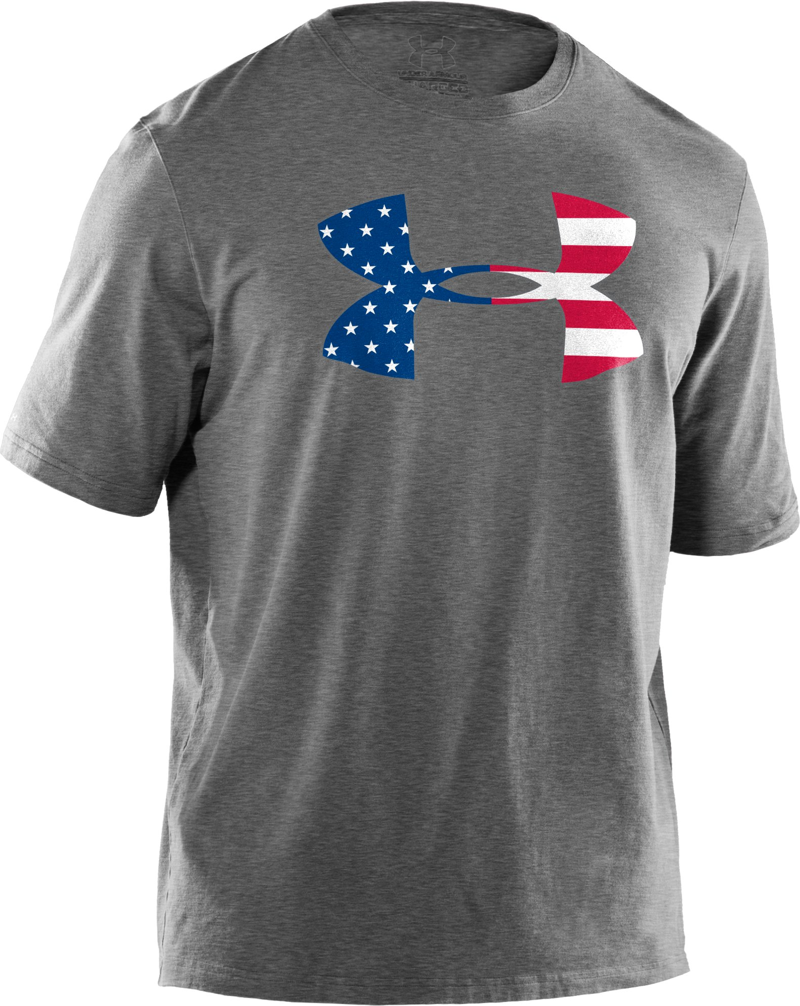 Men's UA Big Flag Logo T-Shirt, True Gray Heather