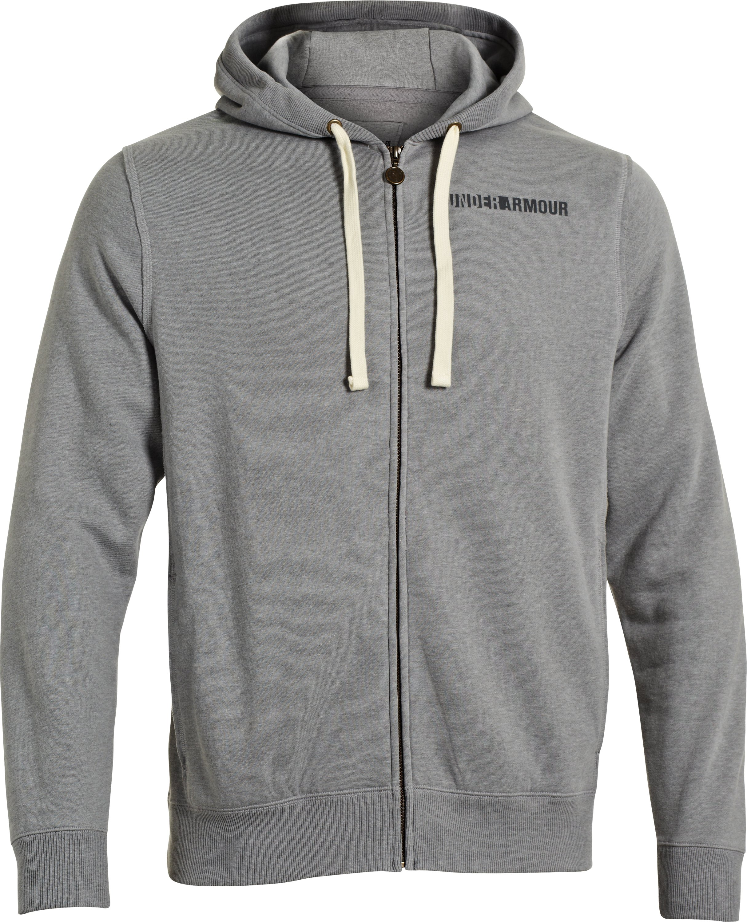 Men's Charged Cotton® Legacy Fleece Full Zip Hoodie, True Gray Heather