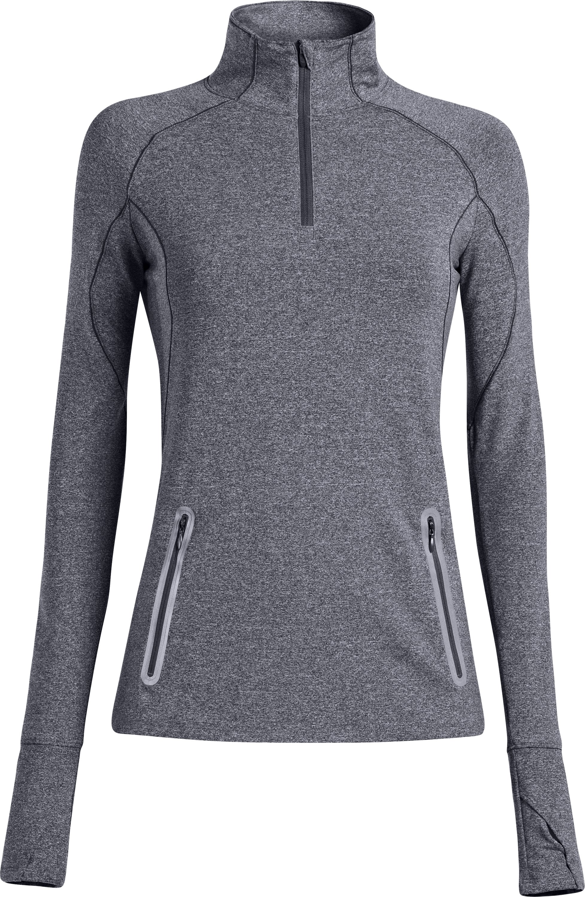 Women's UA Storm Melange ¼ Zip, Lead, zoomed image
