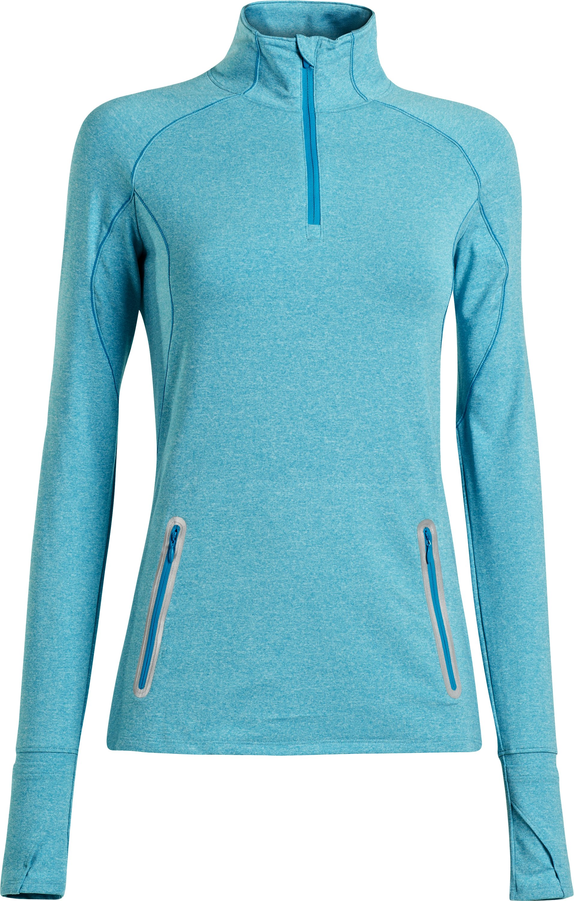 Women's UA Storm Melange ¼ Zip, PIRATE BLUE