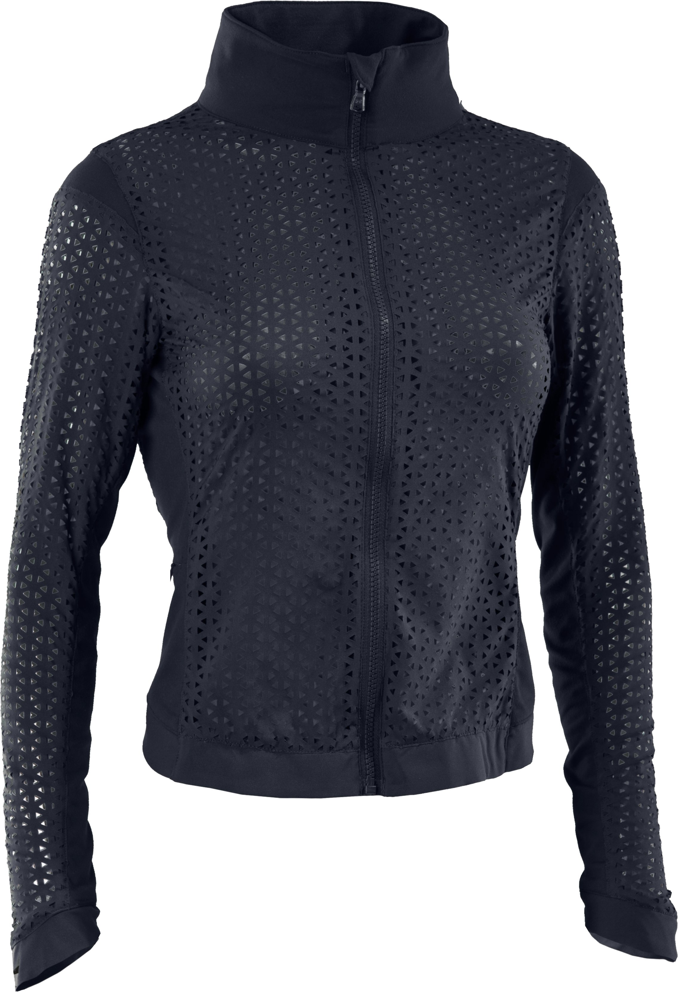 Women's UA Studio See Me Through Jacket, ANTHRACITE, undefined