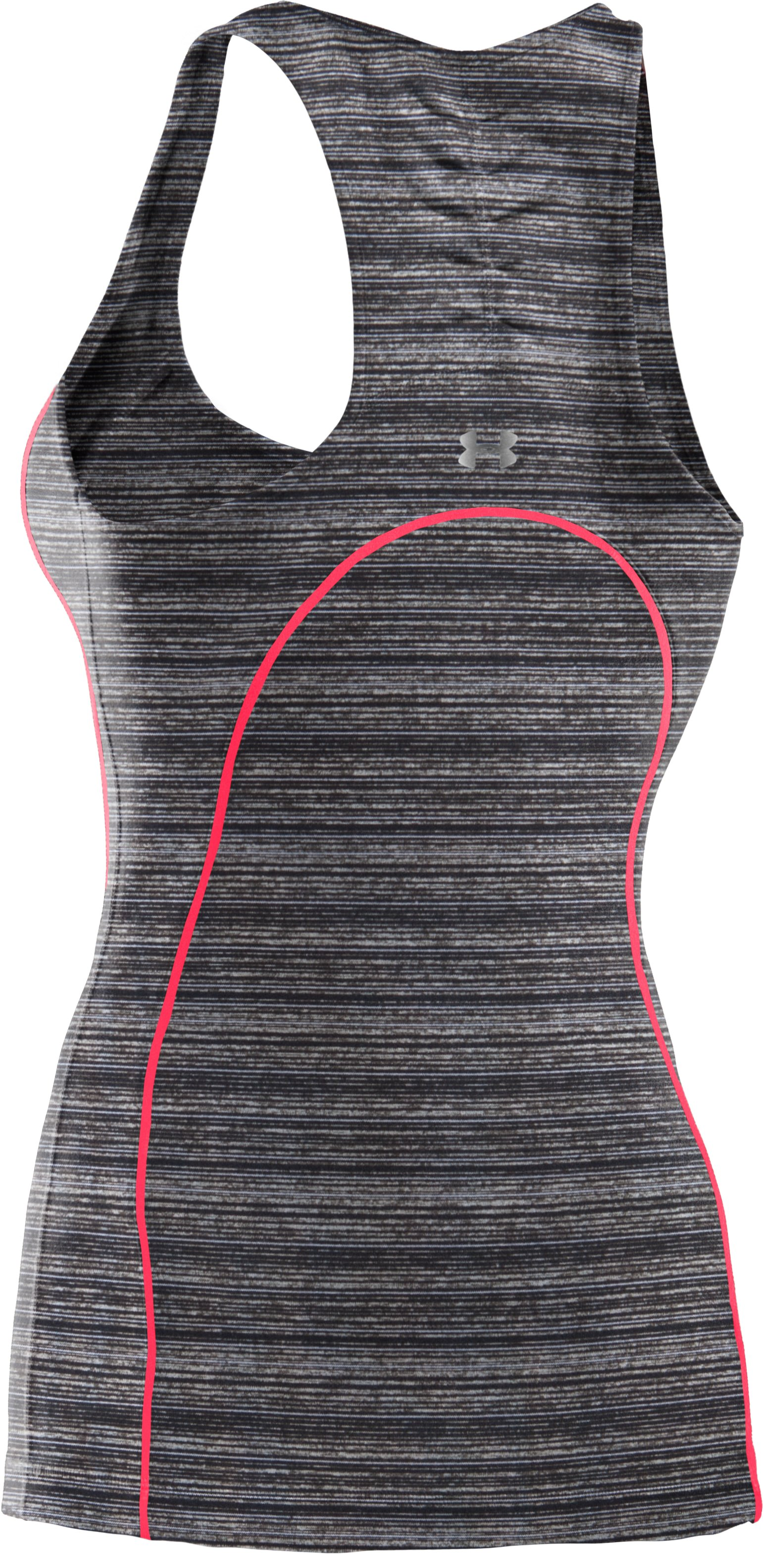 Women's UA Studio Rave Racer Back, ANTHRACITE, undefined