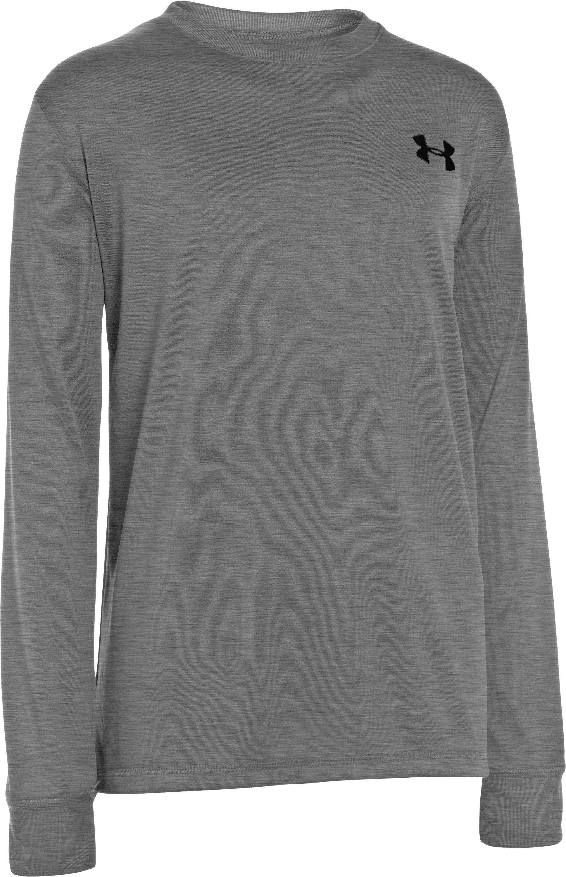 Boys' UA Cray Long Sleeve T-Shirt, True Gray Heather, zoomed image
