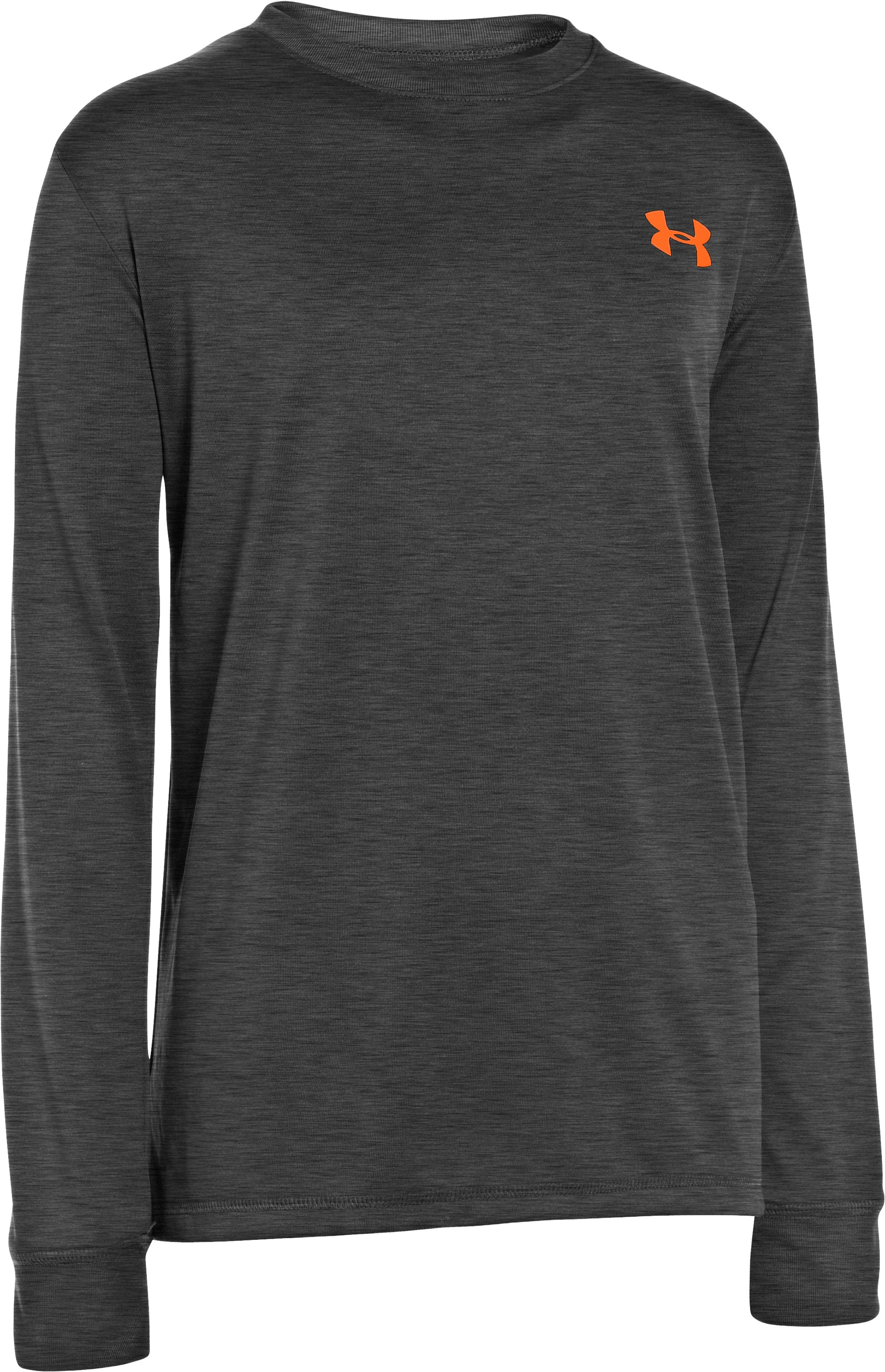 Boys' UA Cray Long Sleeve T-Shirt, Carbon Heather, zoomed image