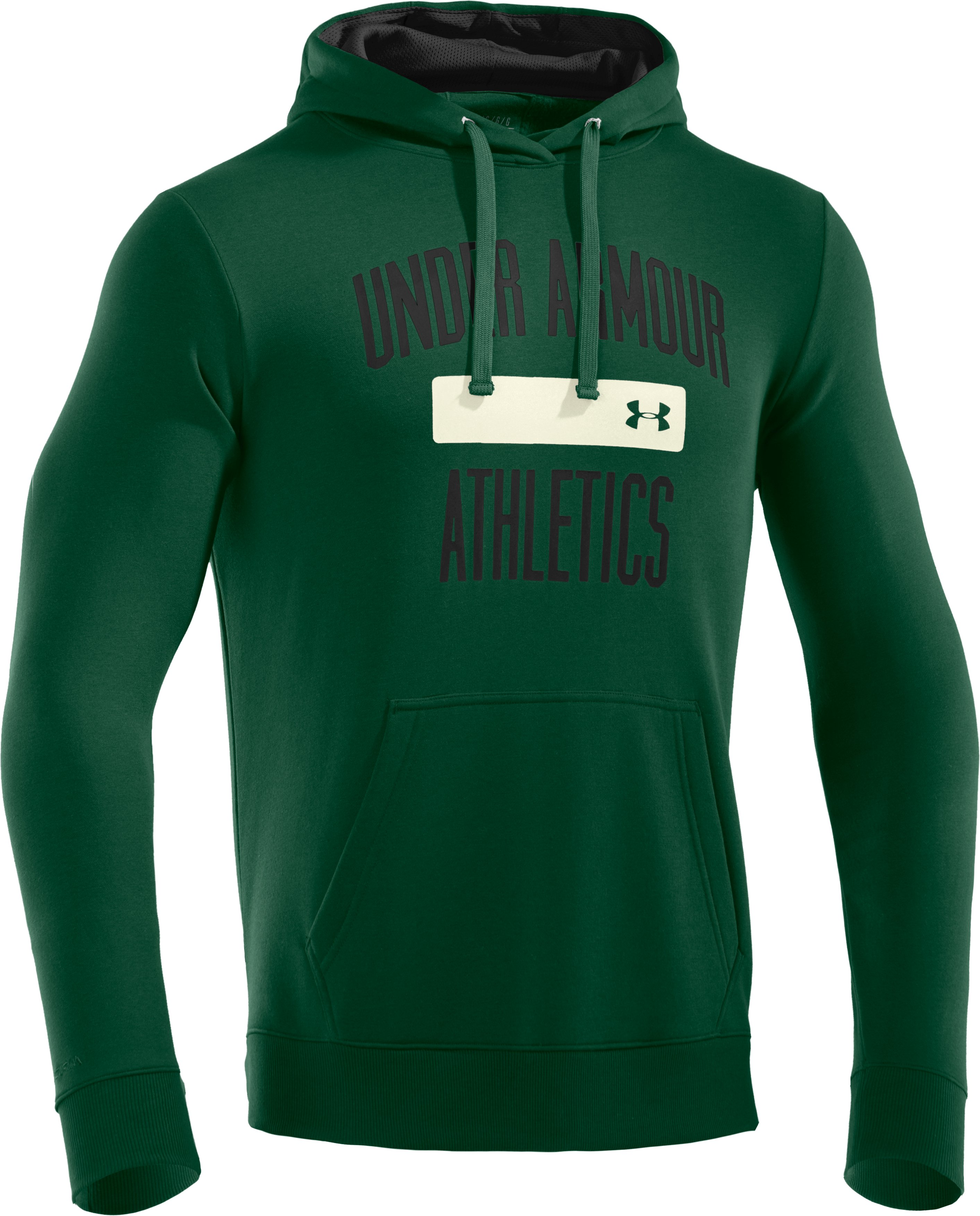 Men's Charged Cotton® Storm Battle Hoodie, Forest Green