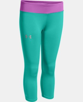 Girls' HeatGear® Armour Capri LIMITED TIME: FREE U.S. SHIPPING 1 Color $17.99