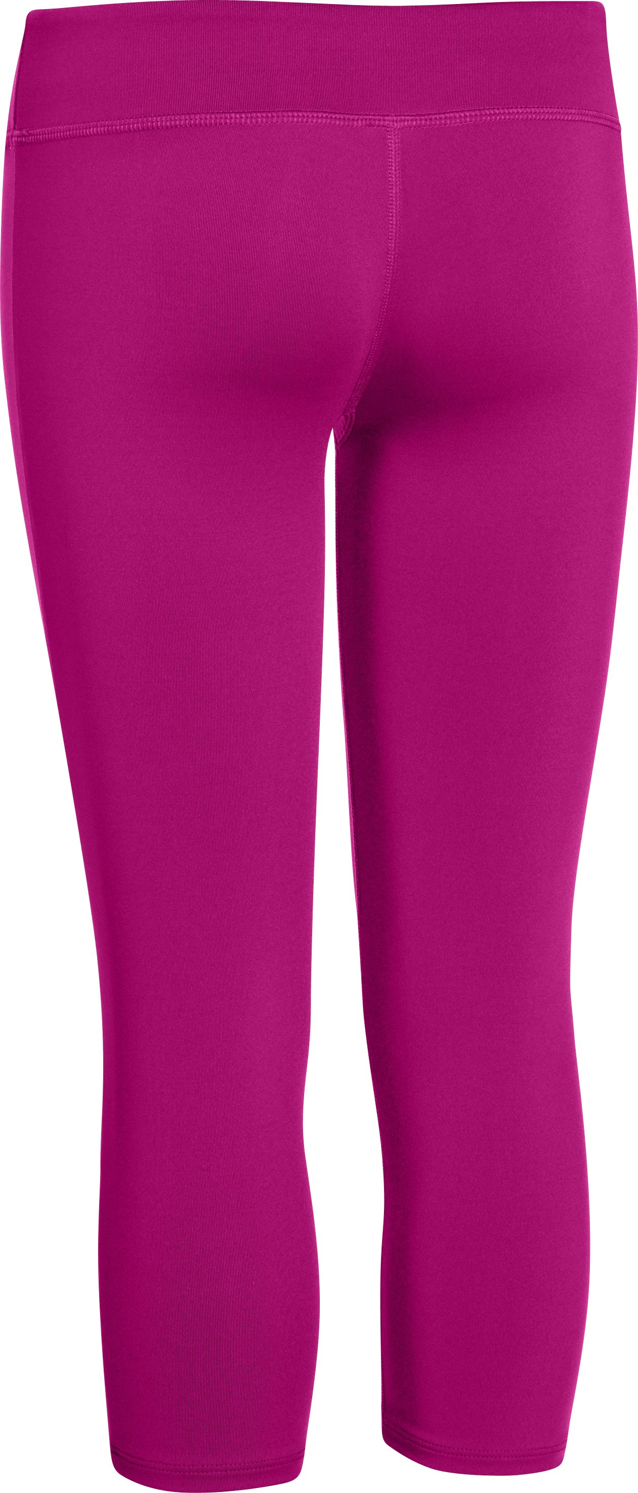 Girls' HeatGear® Armour Capri, MAGENTA SHOCK, undefined