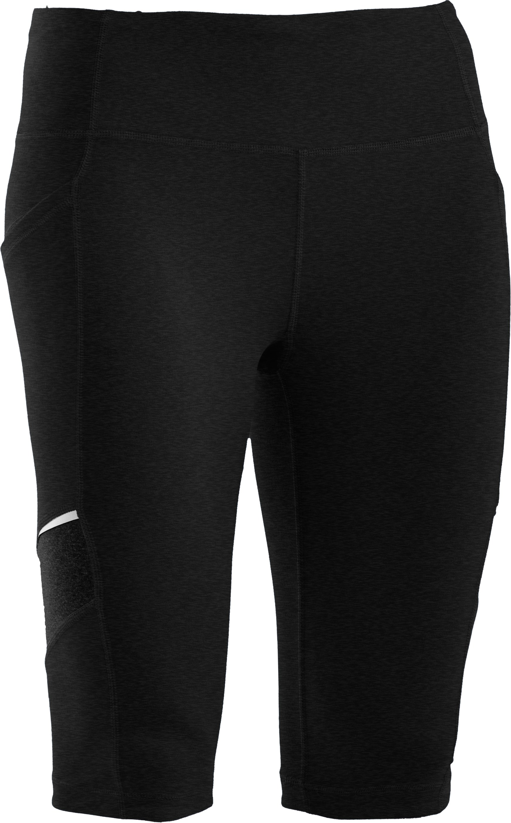 Women's UA StudioLux® Spin Shorts, Asphalt Heather