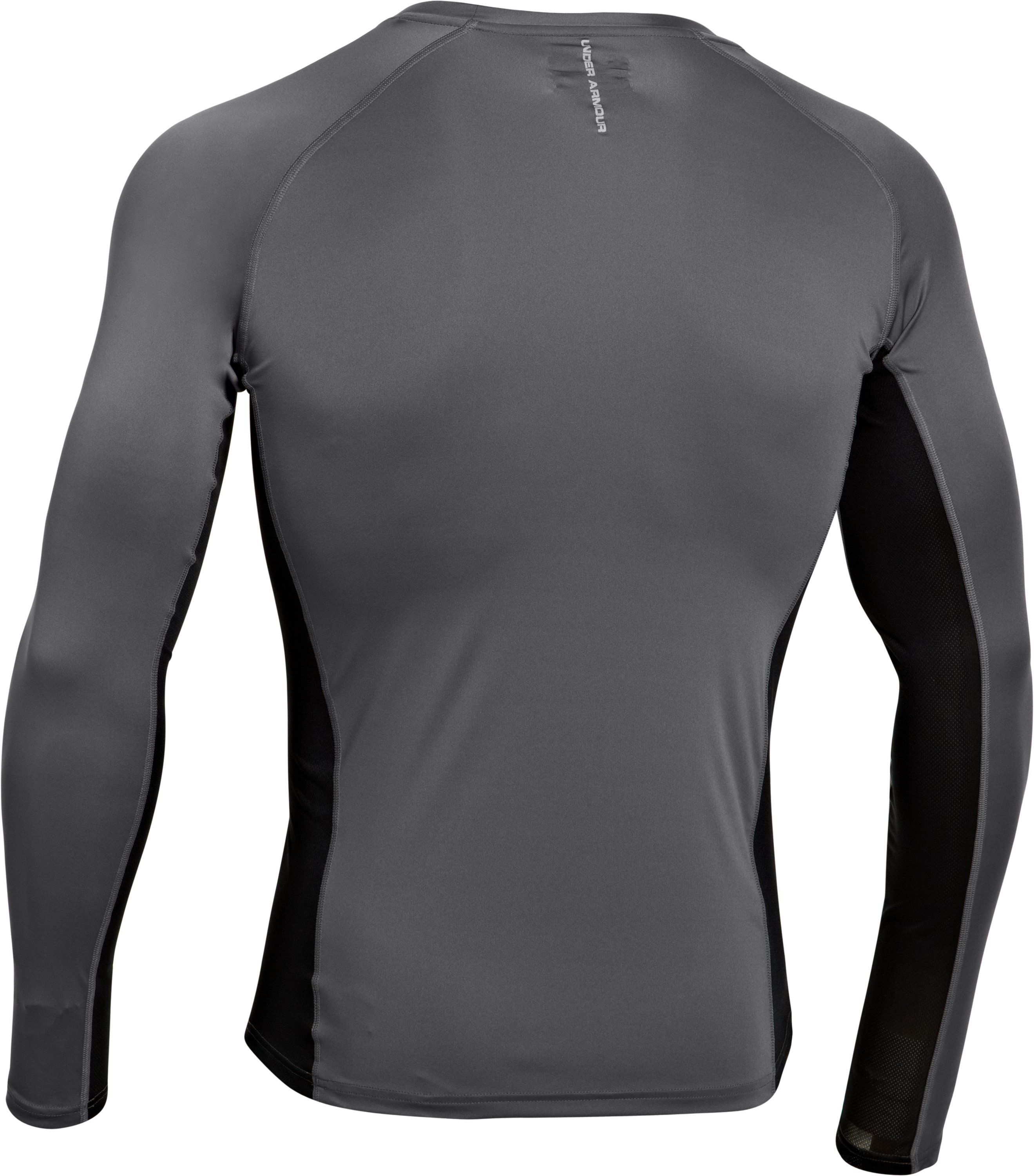 Men's HeatGear® Flyweight Run Long Sleeve, Graphite