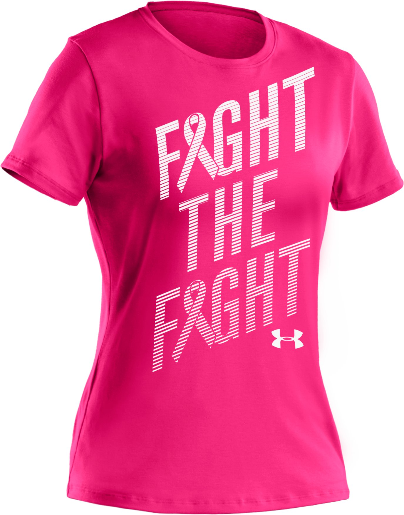 Women's UA PIP® Fight The Fight T-Shirt, Cerise, undefined