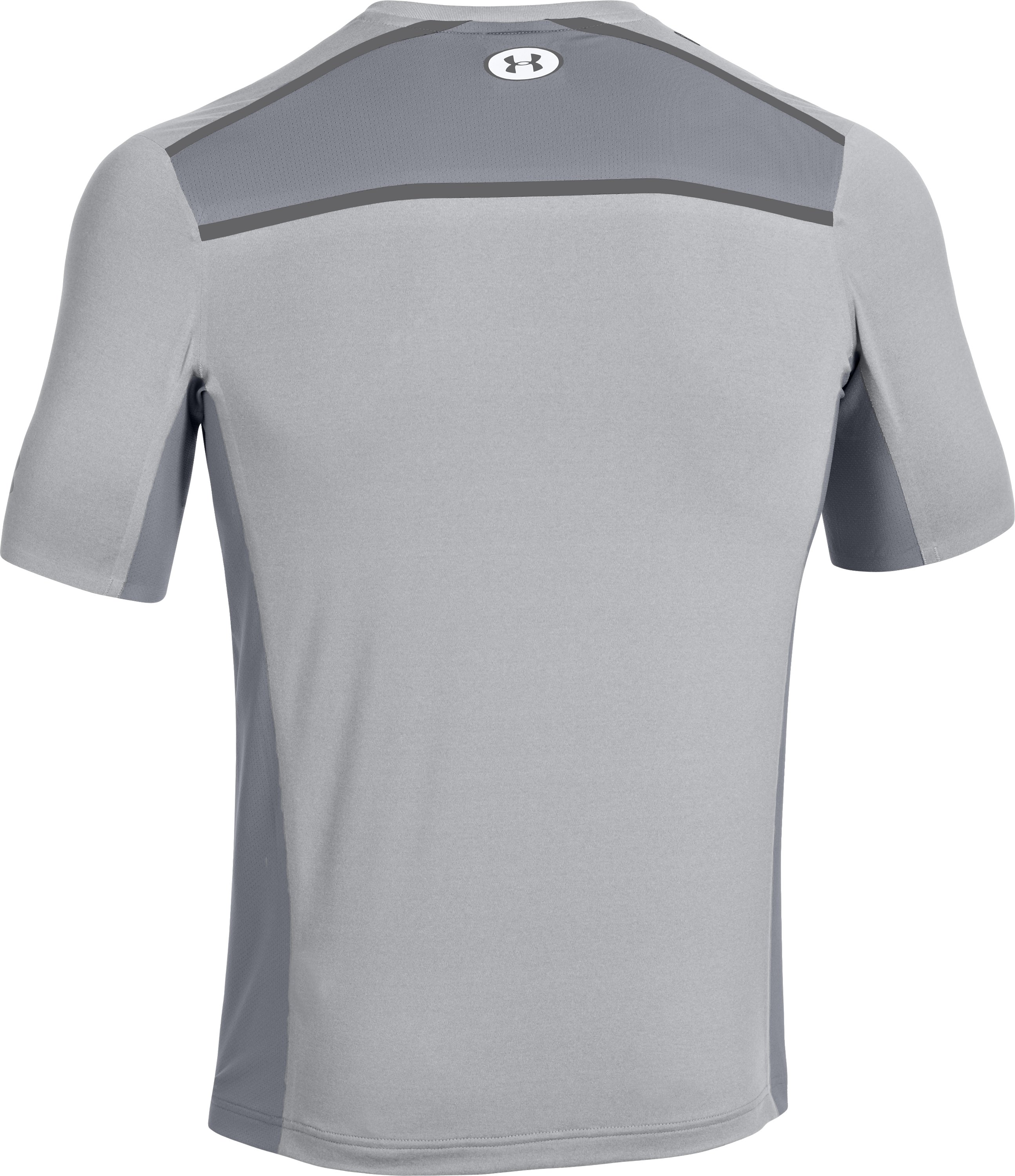 Men's UA Station V-Neck T-Shirt, True Gray Heather, undefined