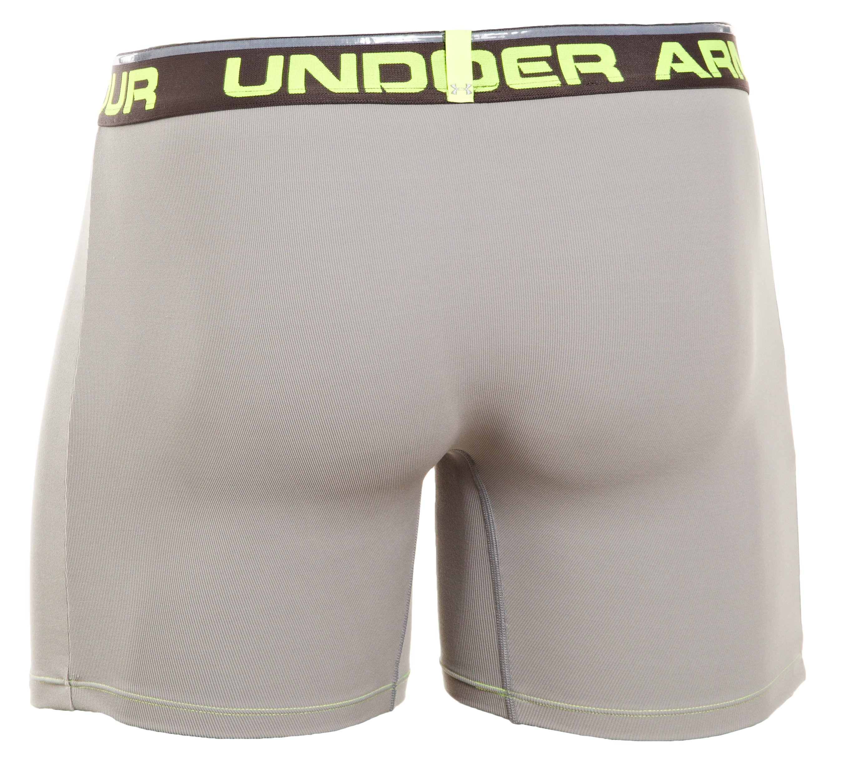 "Men's UA Ribbed 6"" Boxerjock® Boxer Briefs, Steel"