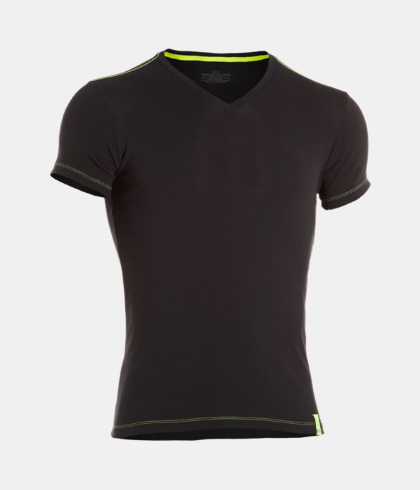 Men s ua ribbed v neck undershirt under armour us for Mens under armour under shirt