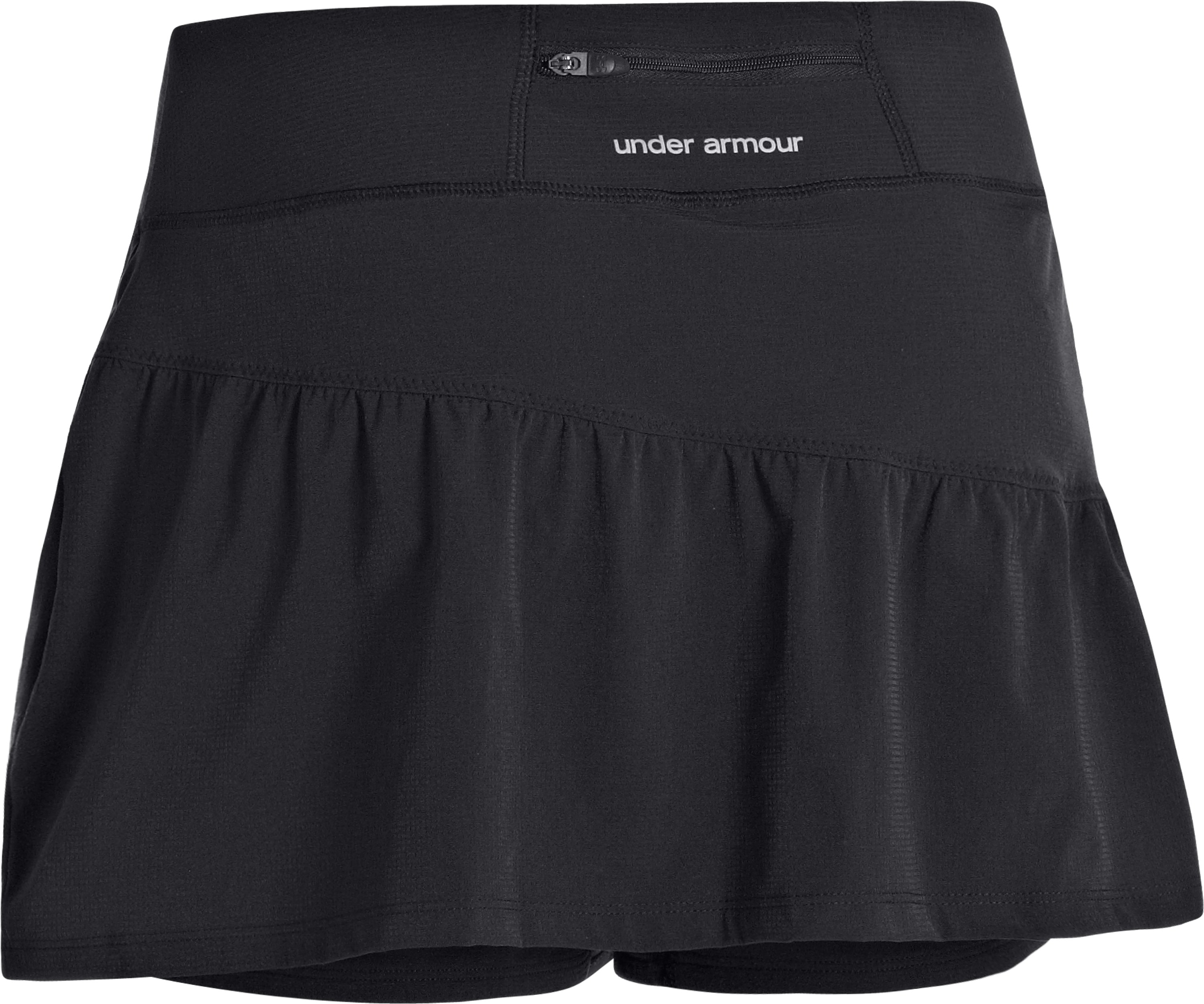 Women's UA Run Stretch Woven Skort, Black