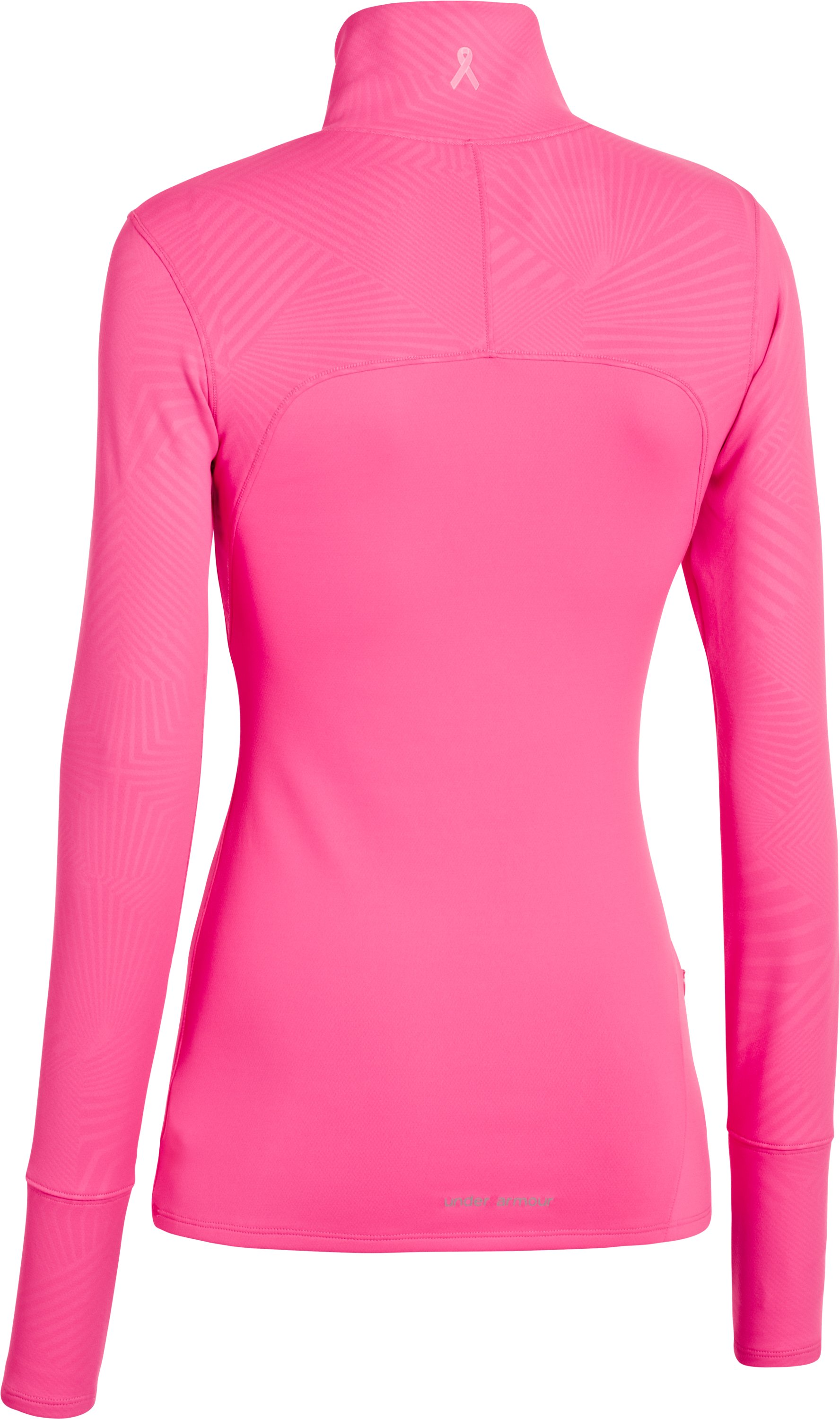 Women's UA Printed Qualifier ¼ Zip, Cerise