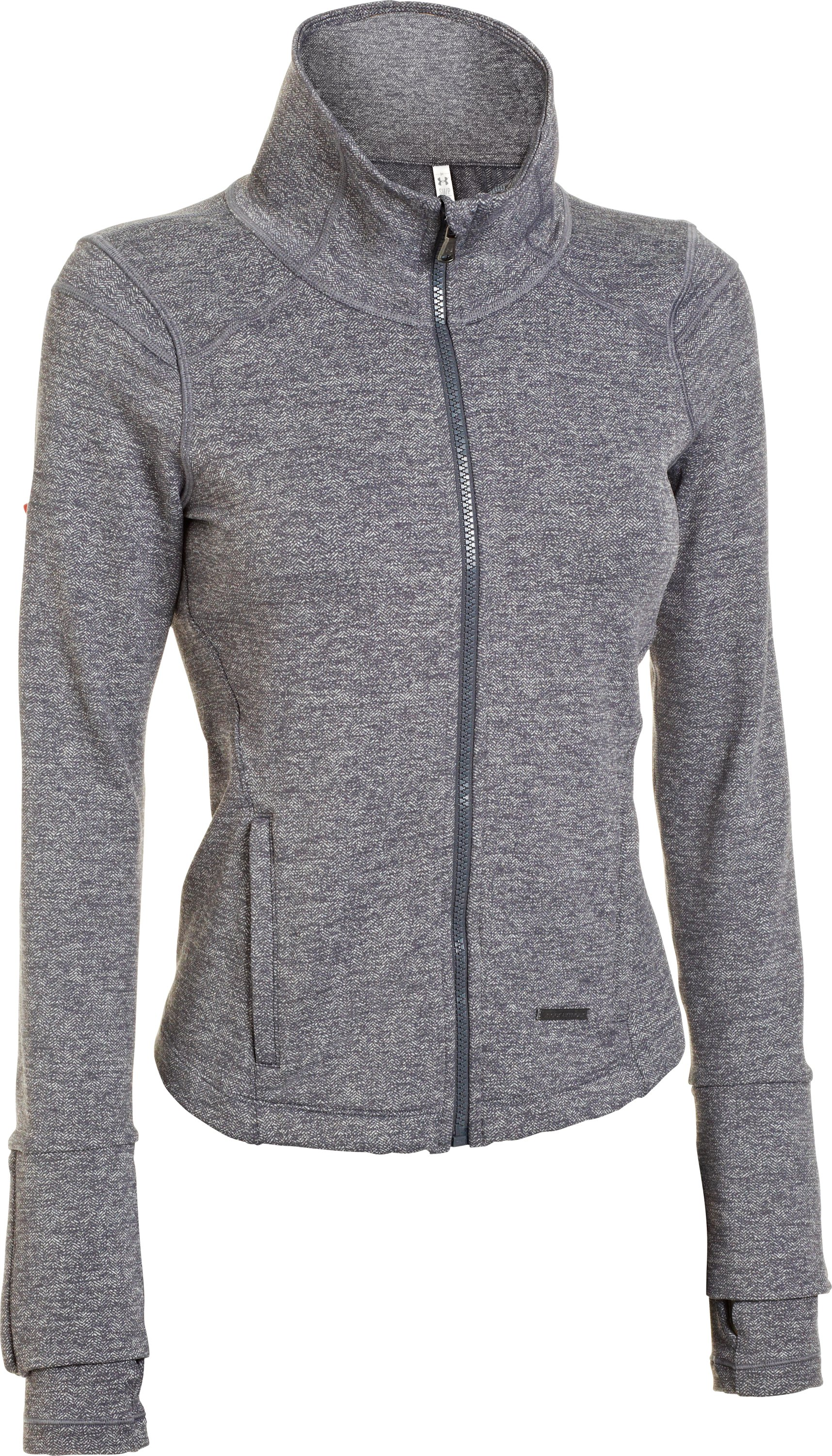 Women's UA StudioLux® Cozy Jacket, Carbon Heather, undefined