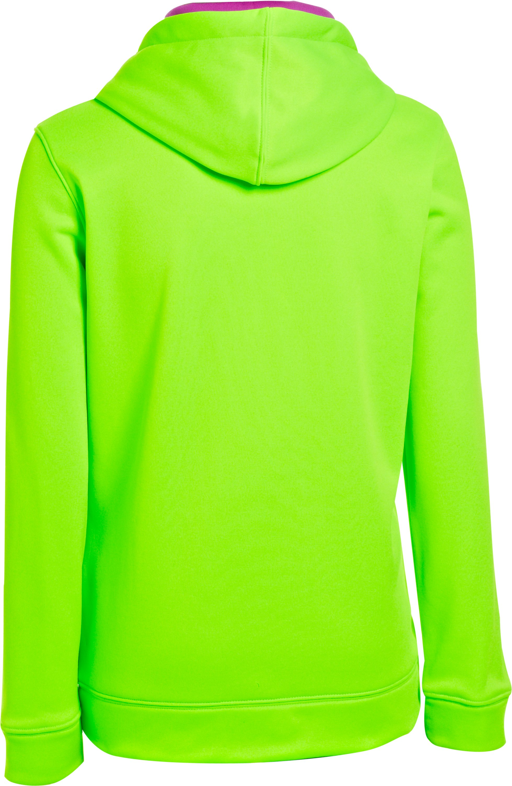 Girls' UA Battle Hoodie, HYPER GREEN