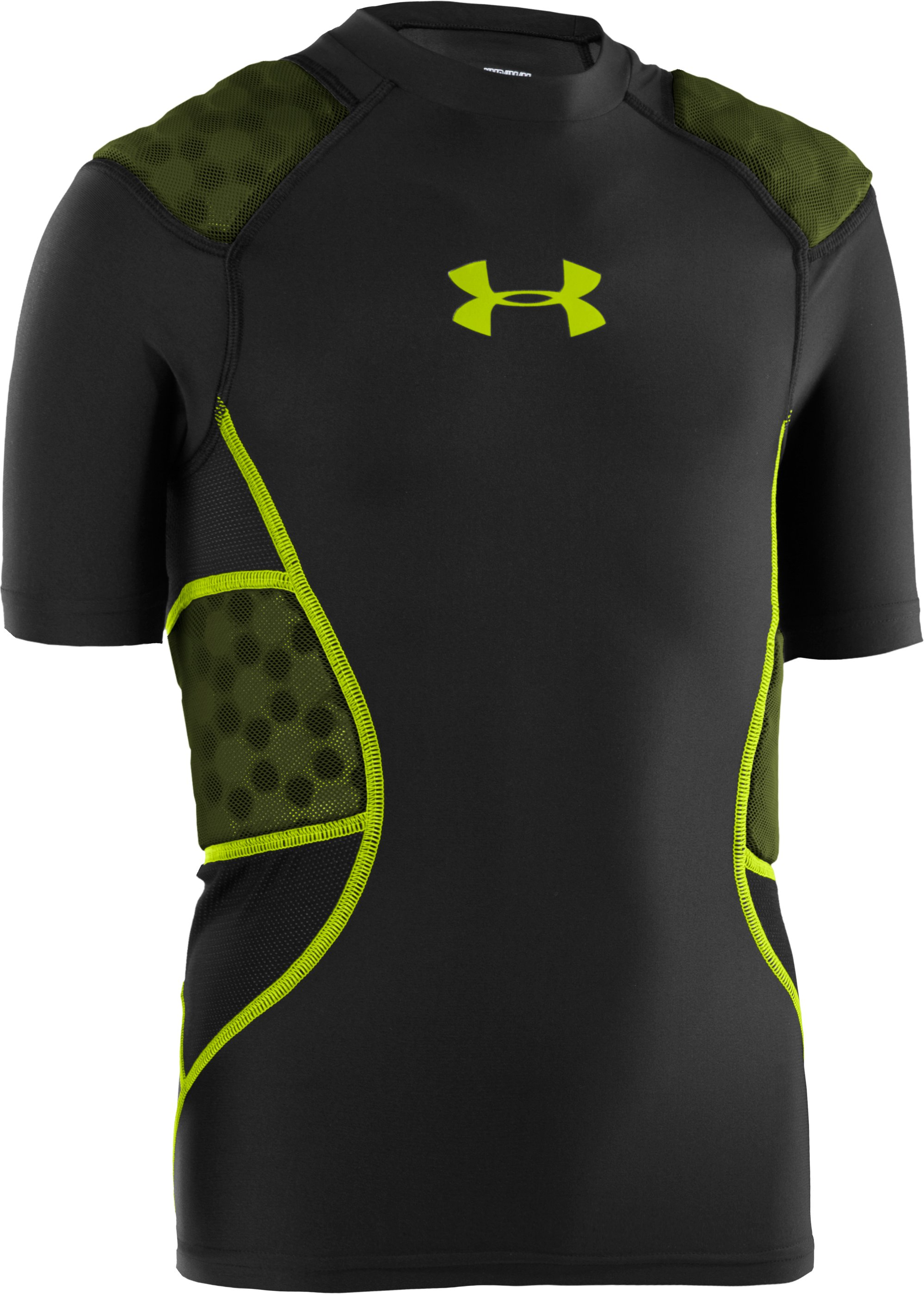 Boys' UA 5-Pad Football Shirt, Black