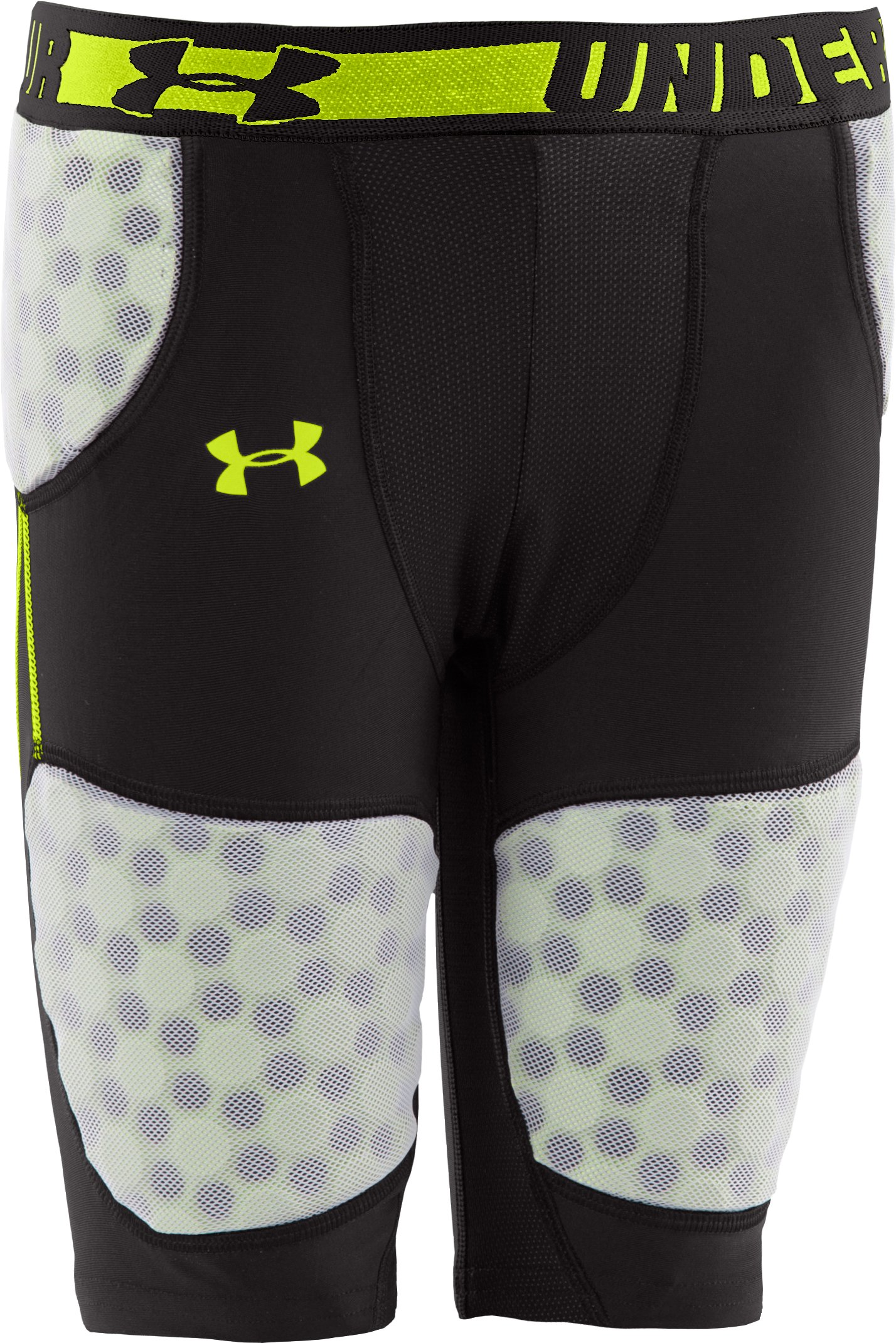 Boys' UA 5-Pad Football Girdle, Black , zoomed image